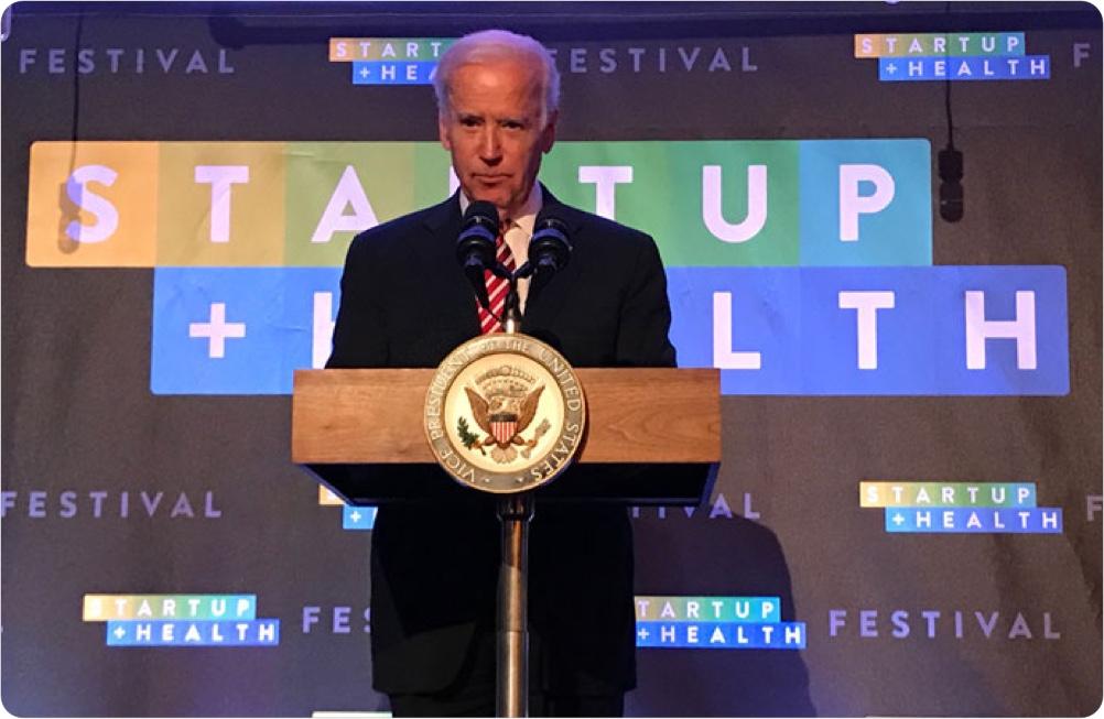 StartUp Health Announces Vice President Joe Biden to Keynote Sixth Annual StartUp Health Festival - December 2017