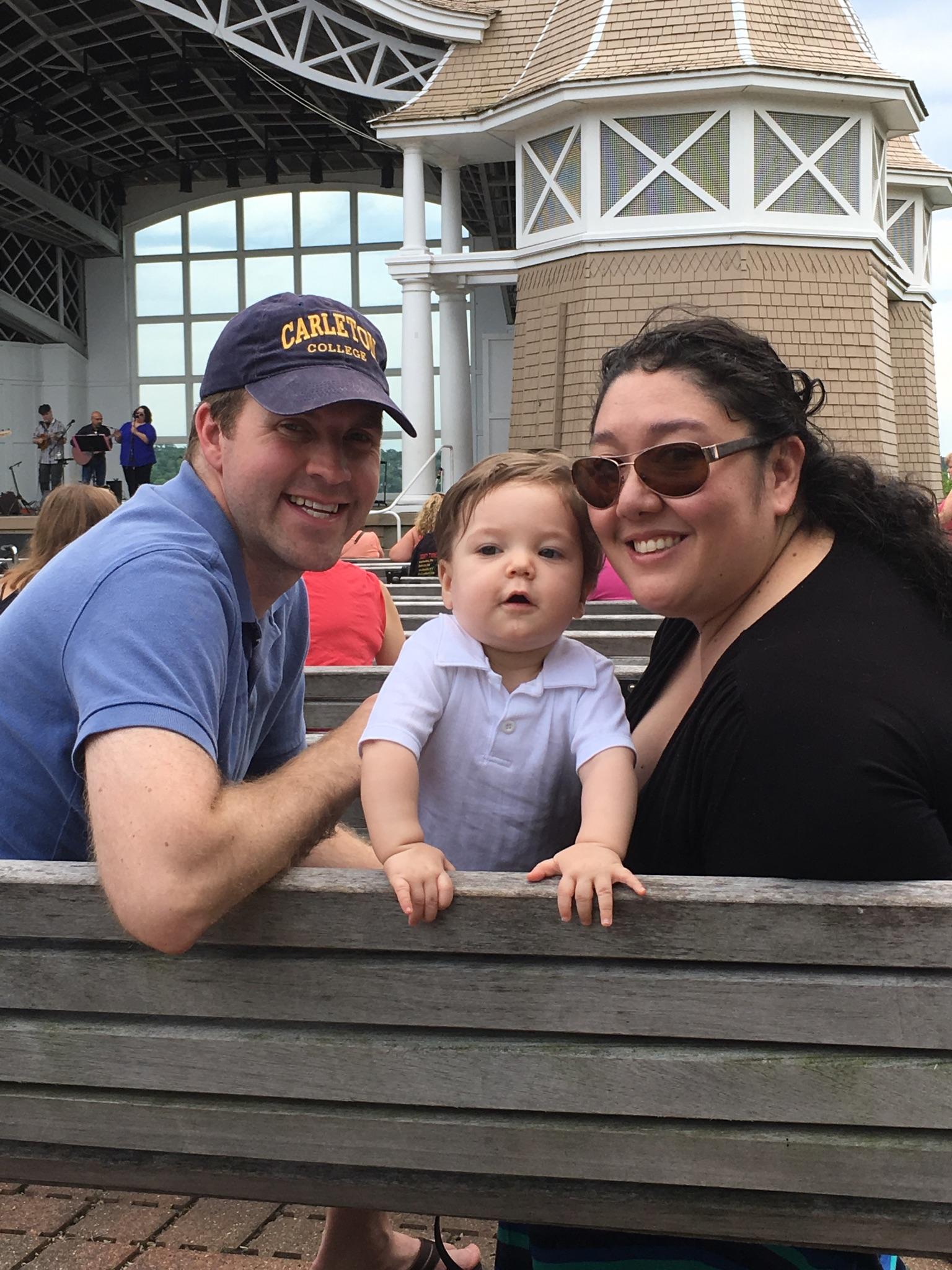 Enjoying an Afternoon at the Bandshell