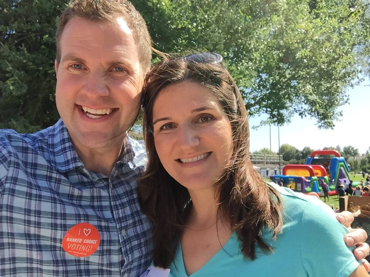 Beautiful day at the Fulton Fall Festival! Congrats to the organizers on a terrific event! — with Campaign Co-Chair and Ward 13 City Councilmember  Linea Palmisano .