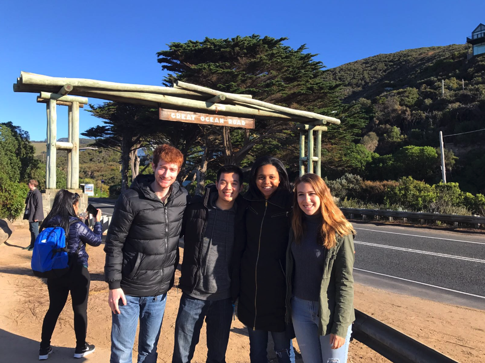 Nicole and her cohort visiting the Great Ocean Road.