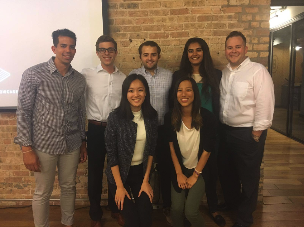 Ruchi, with Alex and Brian from Coder Inc., along with our other Summer 2017 Chicago fellows who interned with Coder Inc.
