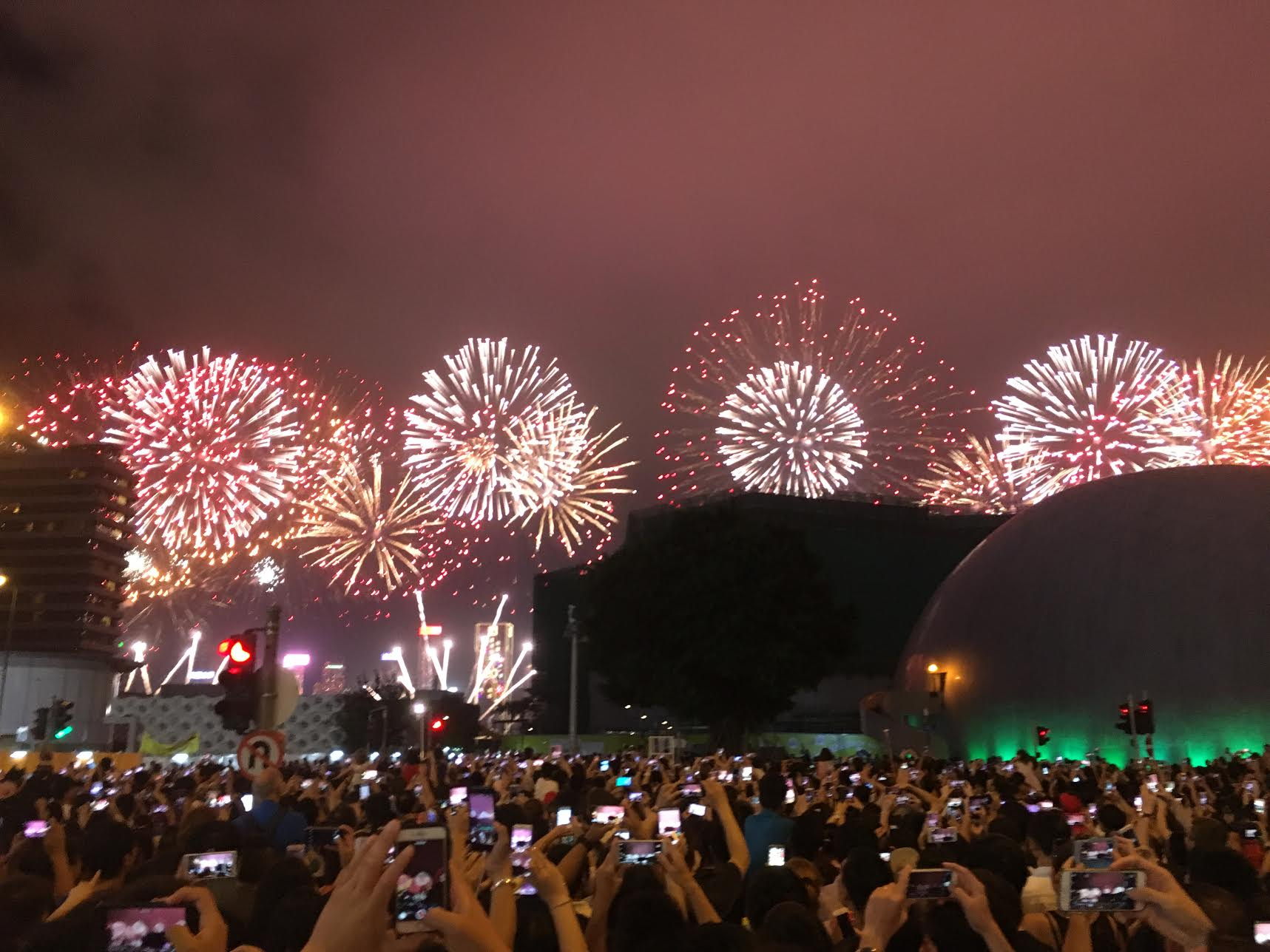 McLean had the opportunity to see fireworks in Hong Kong!