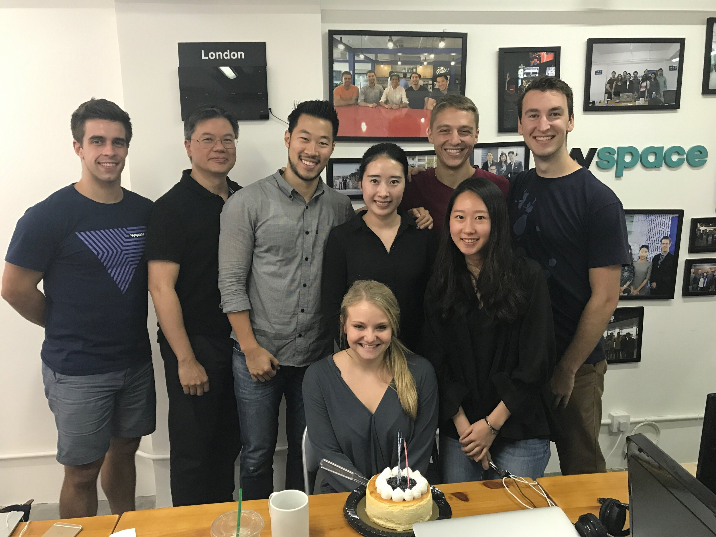 McLean and the Hong Kong cohort bonding over birthday cake!