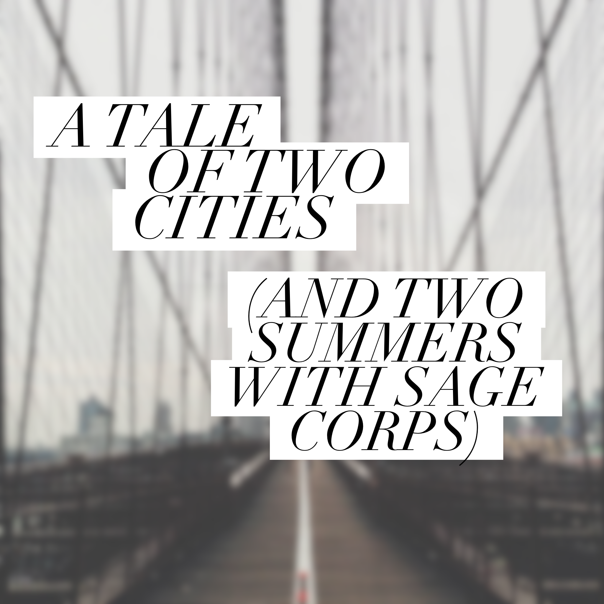 Sage Corps Tale of Two Cities
