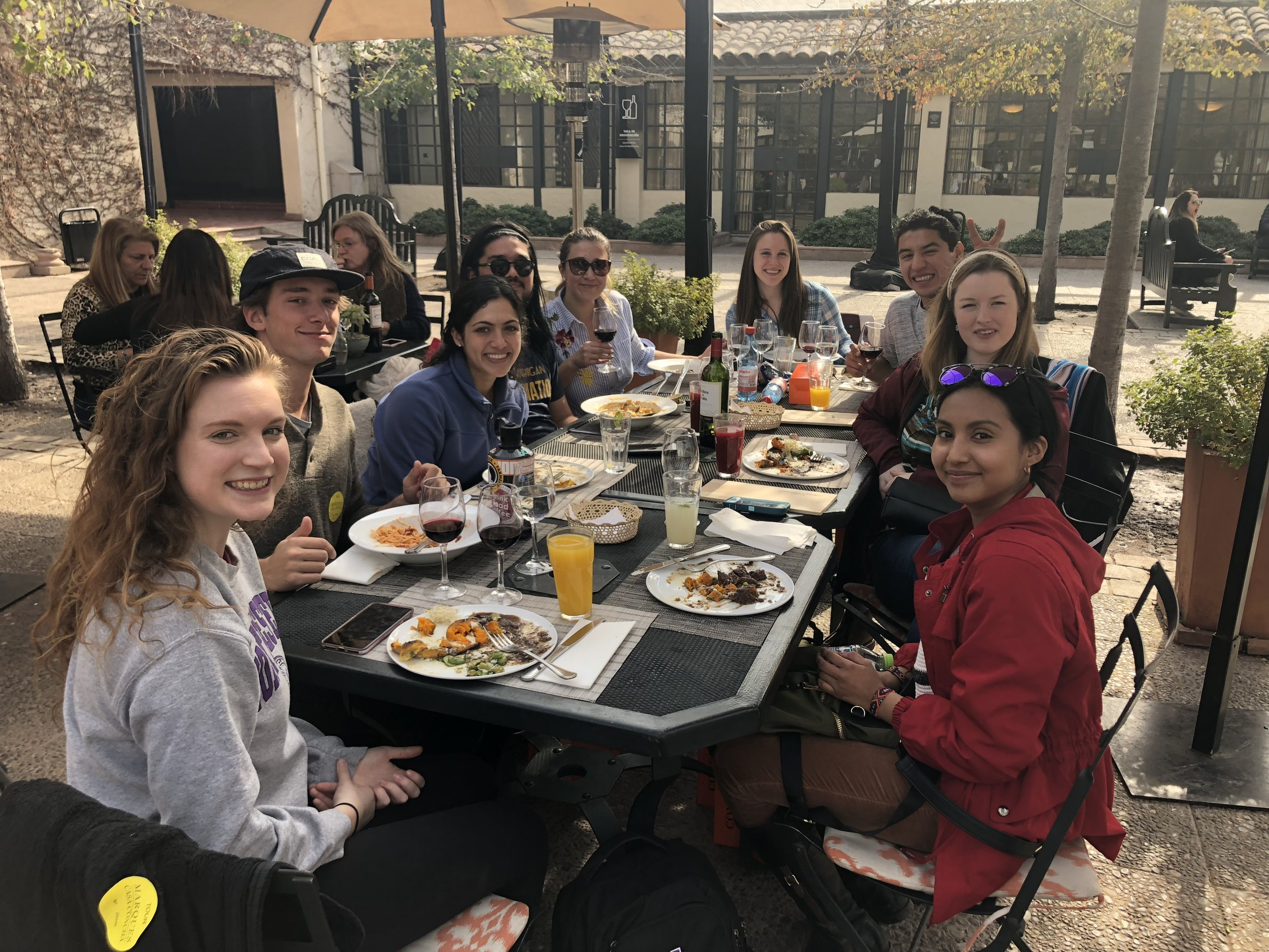 Summer 2018 Santiago cohort on a wine tour.