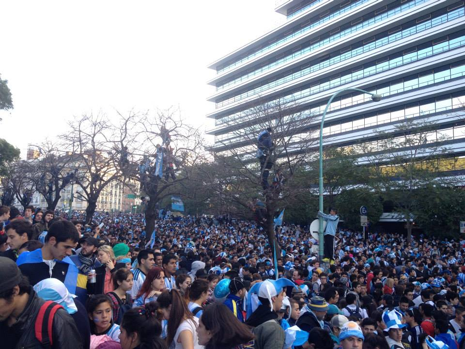 World Cup watch party in Buenos Aires.
