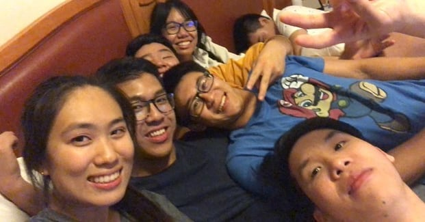 if your squad hasn't been on 1 bed all at once, you ain't a real squad #sagecorps2018 -Richard
