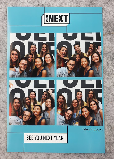Arin and her coworkers have a blast with a photo booth!
