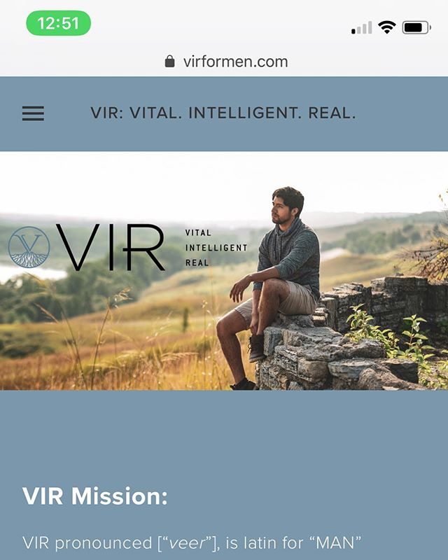 🚨WEBSITE LAUNCH ALERT!  Today is launch day for @virproducts! Go check out their new e-commerce website (www.virformen.com), and read about their awesome natural hair products for men!  It was super fun working on this website and it's exciting that it's finally launched!