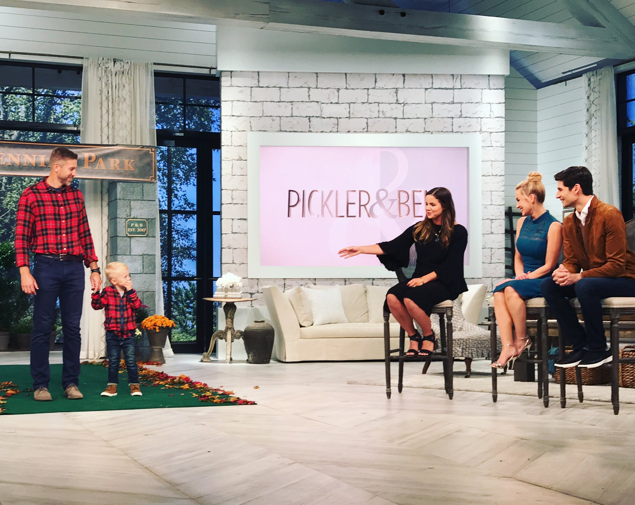 Stephanie Miller on the New TV show Pickler and Ben showing off her refashions for MotherMake