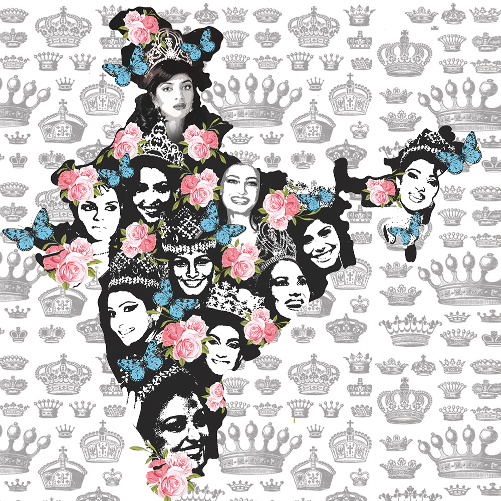 """1994 : """"In 1994, Sushmita Sen won the Miss Universe title after winning the Miss India crown and became the first Indian woman ever to win the Miss Universe crown. The same year the runner-up of Miss India, Aishwarya Rai, won the Miss World title. Since then India has become the international beauty market and the face of indian beauty changed forever! With every beauty brand now available in India i would like to portray the Indian beauty in her journey to conquer the world!"""" ~ Simran Sahni"""