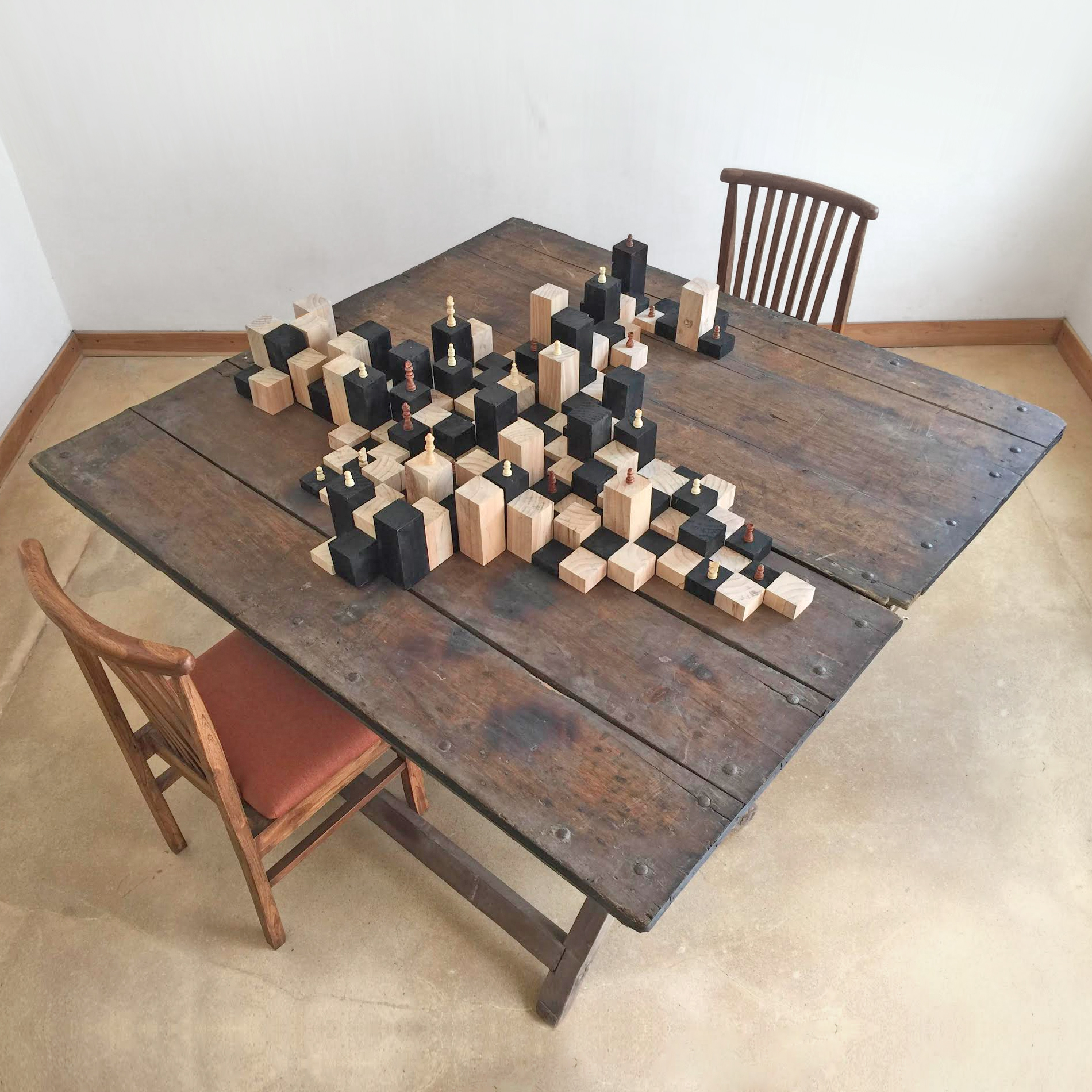 """2016 : """"The concept for my installation 'Powerplay' stems from the political scenario between the two major governments in India - Central and National Capital Delhi. The tensions, the tactics and the tantrums between them gave rise to a lot of dialogue amongst the public, with biases held on both sides and no clear winner.""""~ Kunel Gaur"""