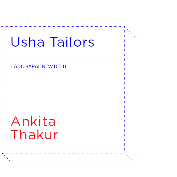 Mrs Usha's boutique is a local favourite. Now here's someone who understands design.
