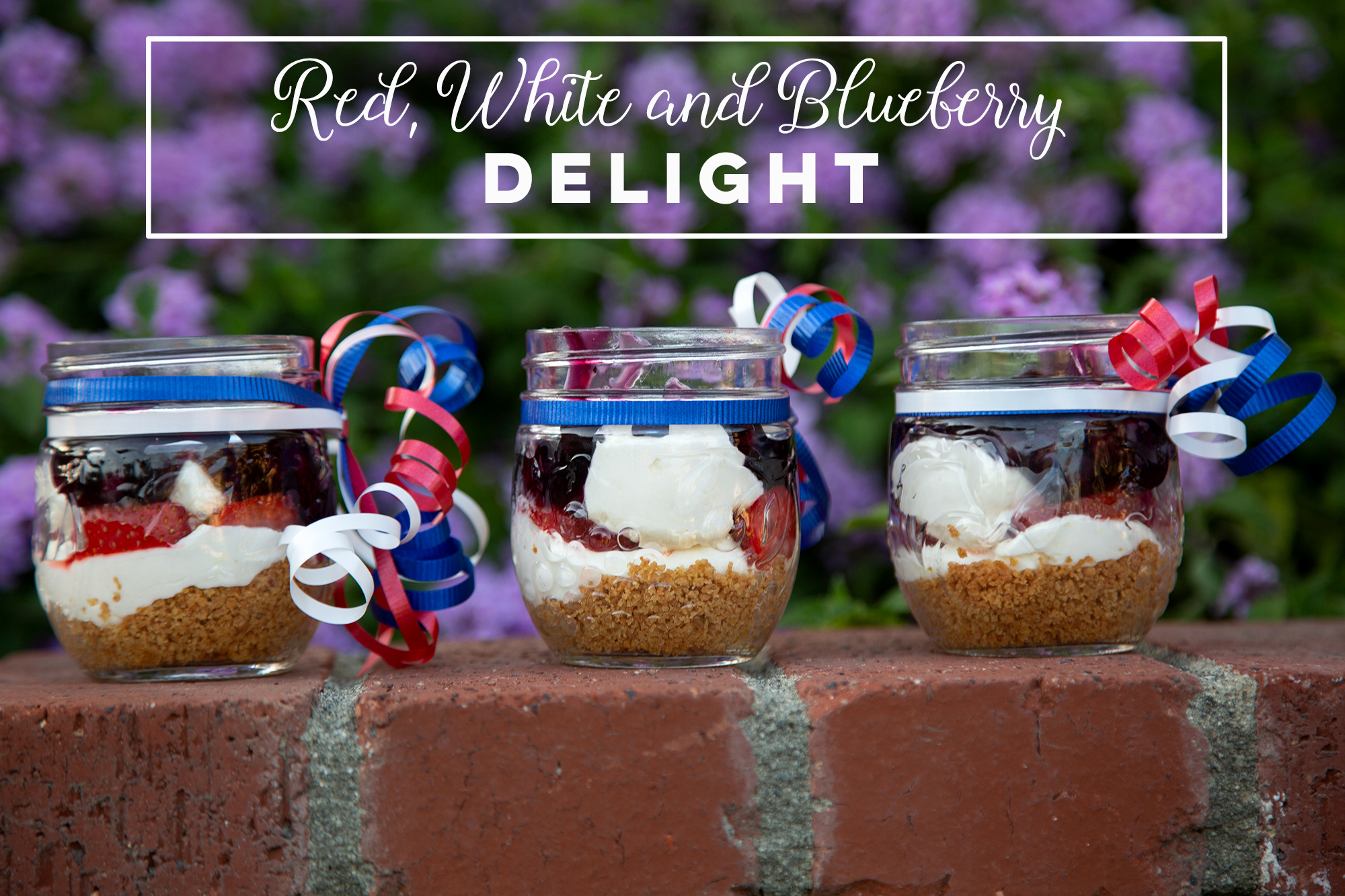 Red, White & Blueberry Delight - This creamy layered dessert from Dahlias and Death is the perfect summertime treat! Click the photo for recipe.