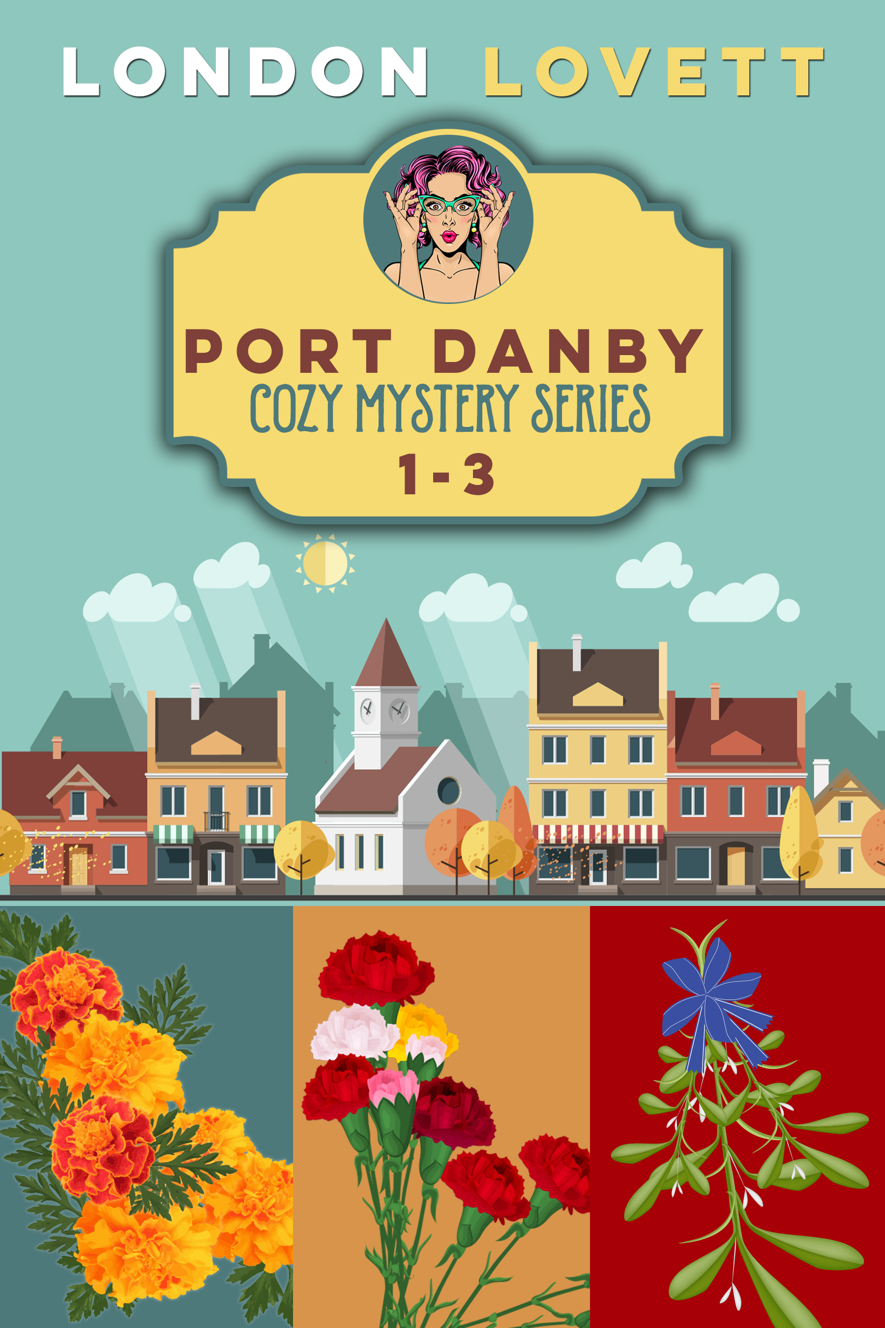 Port Danby Series Box Set (1-3) - This volume contains the first three complete cozy mysteries in London Lovett's Port Danby Cozy Mystery series. Join Lacey 'Pink' Pinkerton and the cast of colorful, lovable Port Danby characters—including the endearing and handsome Detective James Briggs—for three intriguing murder mysteries.Read on: Amazon iBooks Nook Kobo Google