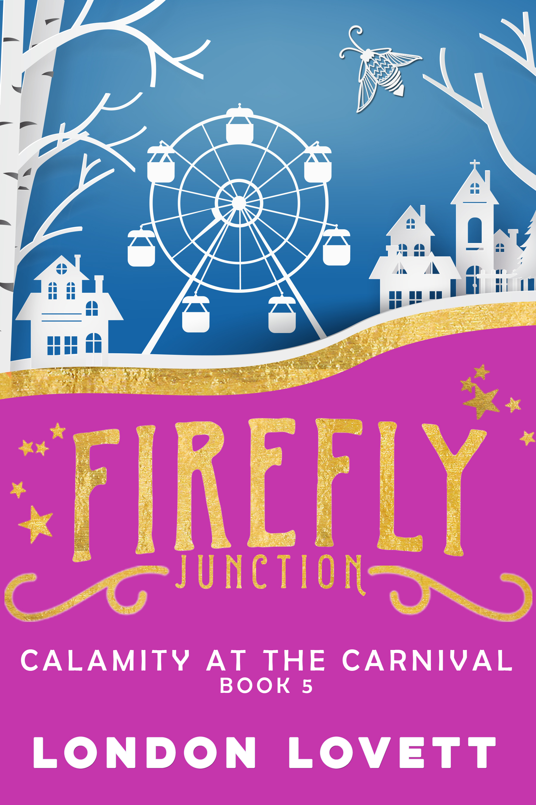 Calamity at the Carnival - Spring is in the air. Flowers are blooming, birds are singing, Jackson's kisses keep coming, and despite the occasional moodiness of her ghostly housemate, Sunni is looking forward to the season.It's spring break in Firefly Junction and the Stockton Traveling Carnival has come to town. Sunni finds herself saddled with an uninspiring story assignment. But in between the mix of sugary carnival treats, scream-inducing rides and timeless arcade games, someone murders Madame Cherise, the fortune teller, and Sunni's assignment takes a wild turn.Read on: Amazon iBooks Nook Kobo Google