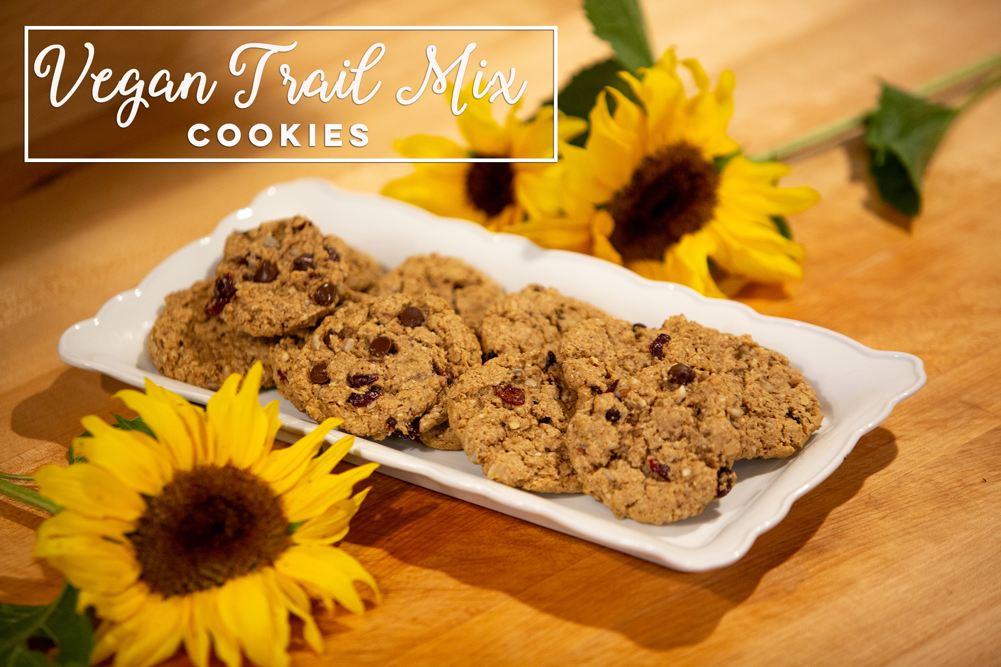 Vegan Trail Mix Cookies - Elsie's vegan trail mix cookies are the perfect addition to your summer picnic and a great treat for any occasion. Click the photo for recipe.