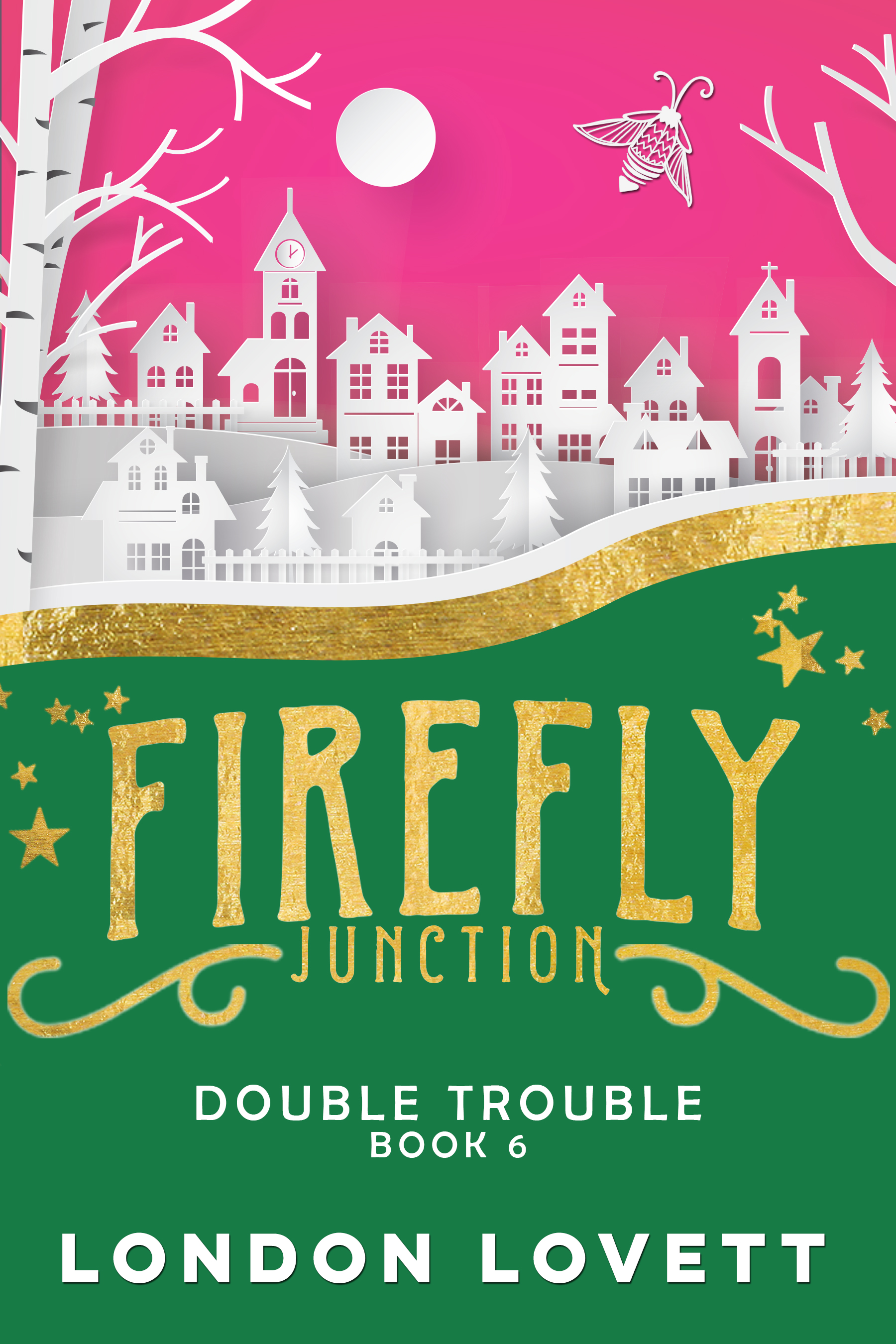Double Trouble - Firefly Junction meets Port Danby as Lola and Lacey take a trip to the Cider Ridge Inn in Double Trouble.Sunni Taylor is finally going to meet Lola Button, the quirky antique dealer who sold her some rather unusual old photos of Cider Ridge Inn. When Lola arrives with her best friend, Lacey Pinkerton, Sunni and Lacey find they have a lot in common.When Sunni's friend, Raine, is invited to attend a wiccan ceremony celebrating the Autumnal Equinox, the four women decide it would be fun and find themselves traipsing through the forest to attend the Mabon Apple Harvest Rite. Amidst the incense and incantations, a shocking discovery is made. A dead body. Sunni and her new sleuthing partner, Lacey, immediately jump into action. The two women are ready to pool their skills and find the killer.Releasing everywhere August 12thPre-order: Amazon Nook Kobo