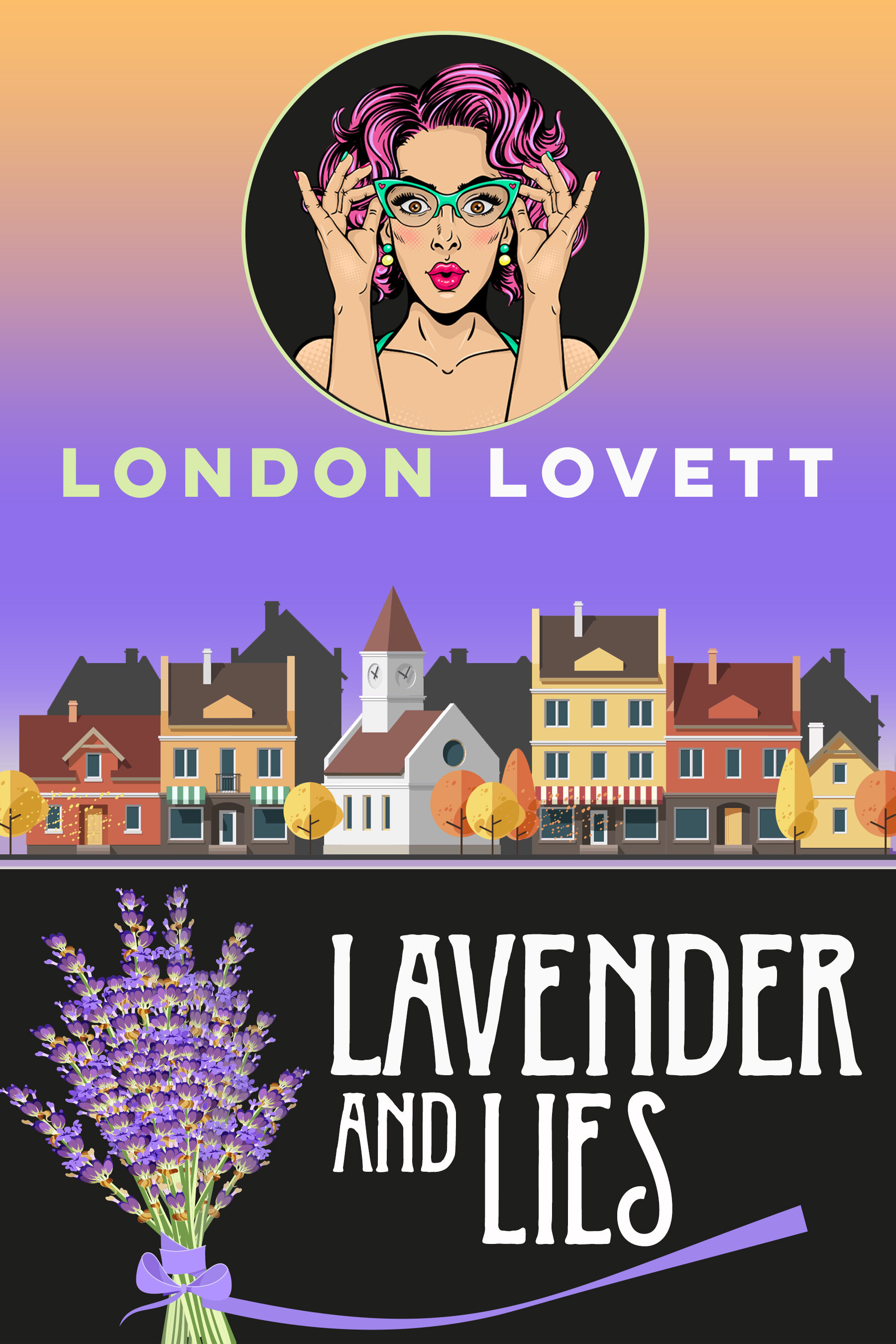 Lavender and Lies - There's a new man in town, Lionel Dexter, an eligible, handsome bachelor who has taken up residence in a Chesterton mansion. He quickly wins over many hearts, including Kate Yardley's, the stylish, man crazy owner of the Mod Frock Boutique. Much to everyone's chagrin, it turns out Lionel is quite the scoundrel. Soon, jealousy and heartbreak flood the town. When the town's newest hot commodity winds up dead, Lacey joins her boyfriend, Detective Briggs on a quest to find the killer. Could it be a jilted lover or was there more to Lionel than broad shoulders, graying temples and a blinding white smile?Releases everywhere November 11Pre-order on: Amazon iBooks Nook Kobo
