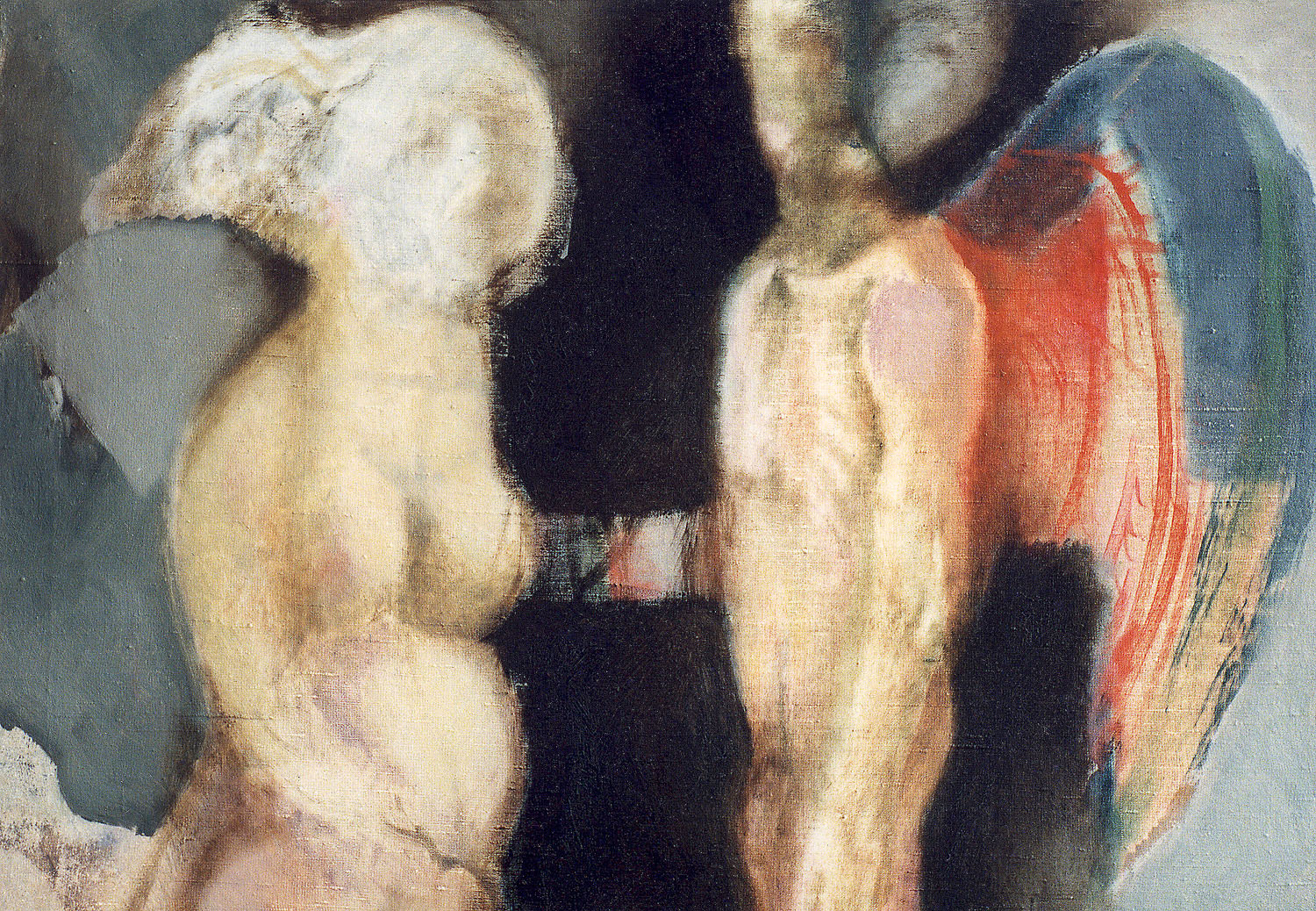 Woman and Angel, 1992, oil on canvas, 27.4 x 35.6 inches, (69.5 x 90.5 cm)