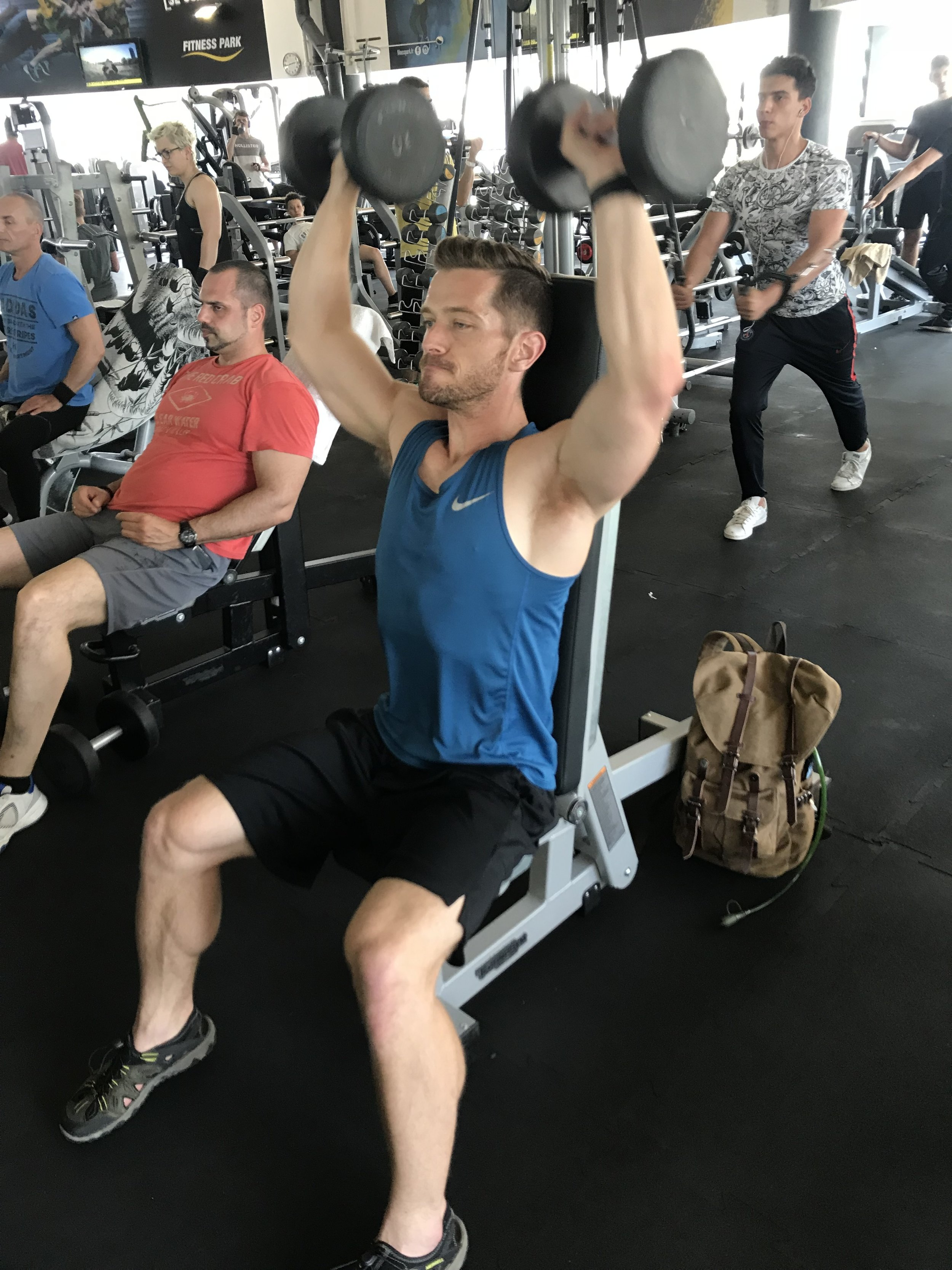 SEATED SHOULDER PRESS