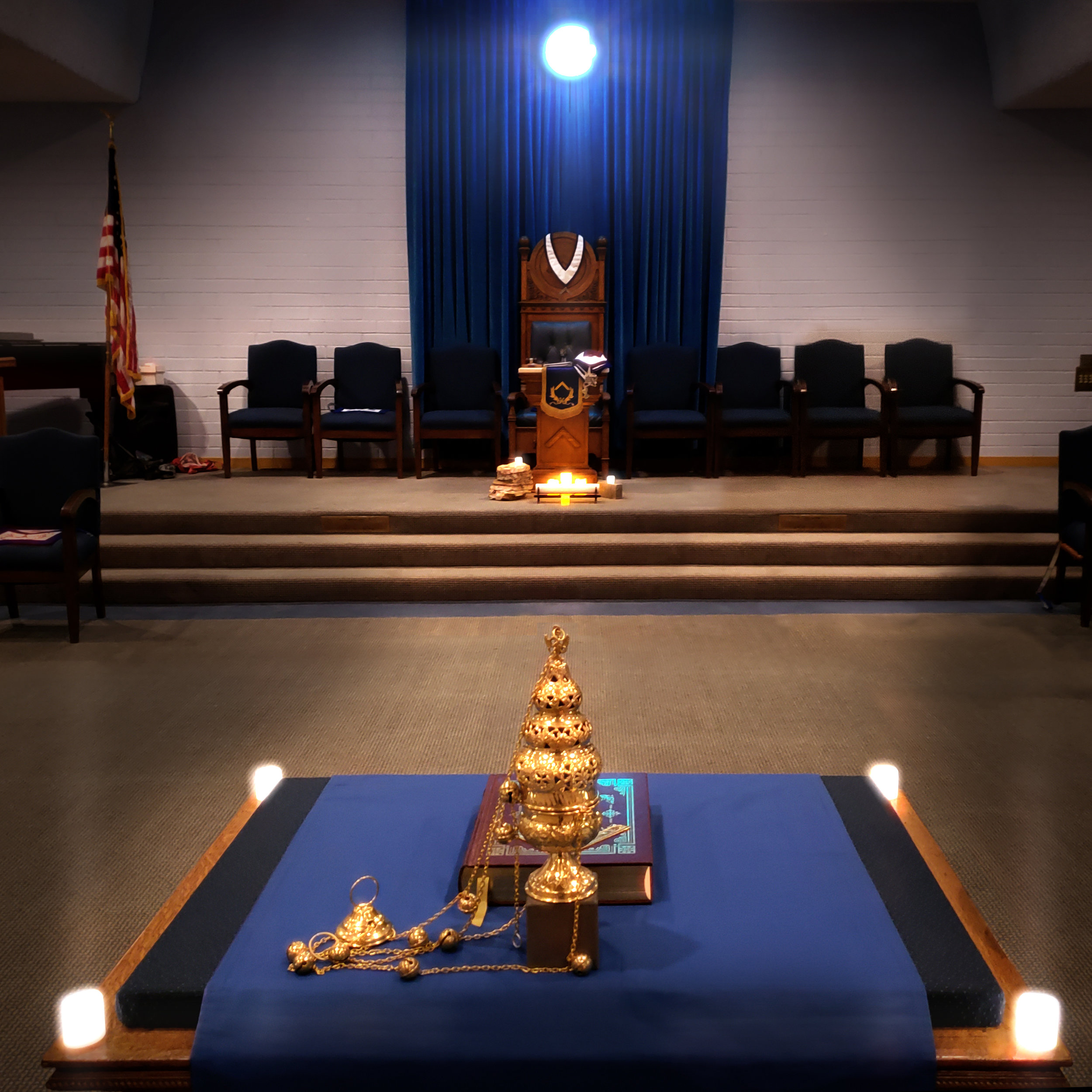Lodge Room with Incense
