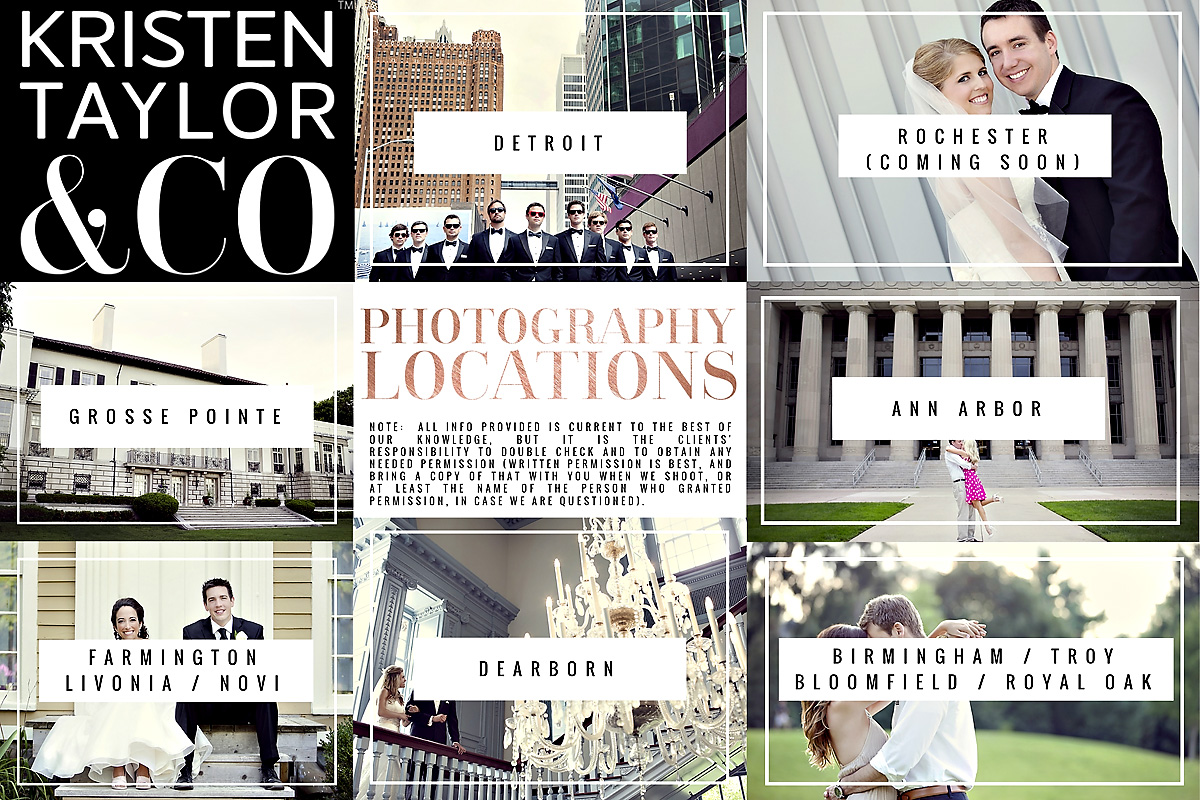 ONLINE LOCATIONS GUIDE - NEED HELP FINDING AN ENGAGEMENT SESSION LOCATION OR AN OFF-SITE WEDDING PHOTOGRAPHY LOCATION? WE HELP WITH IDEAS AND SAMPLE IMAGES.