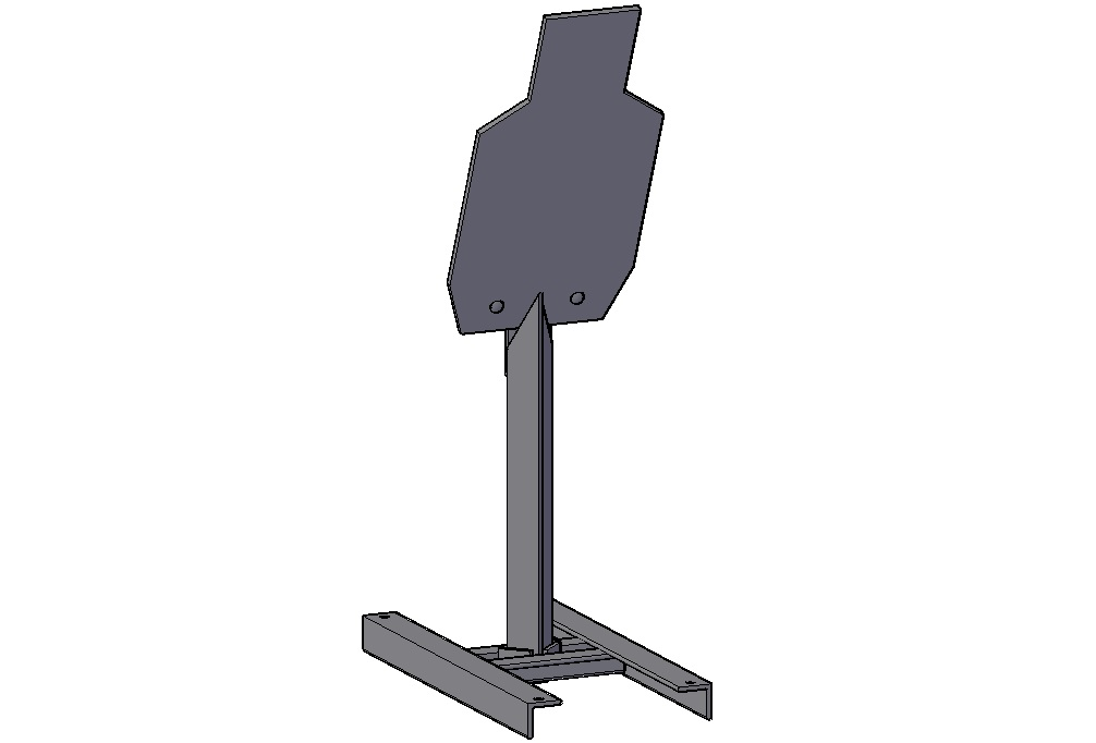 Flat Rate Targets - Requested by high speed law enforcement snipers, these are designed to be compact complete systems and are built with an armored post to withstand the worst shooters and toughest environments. They are compact and easy to transport and due to their size they are a cheaper option to ship.