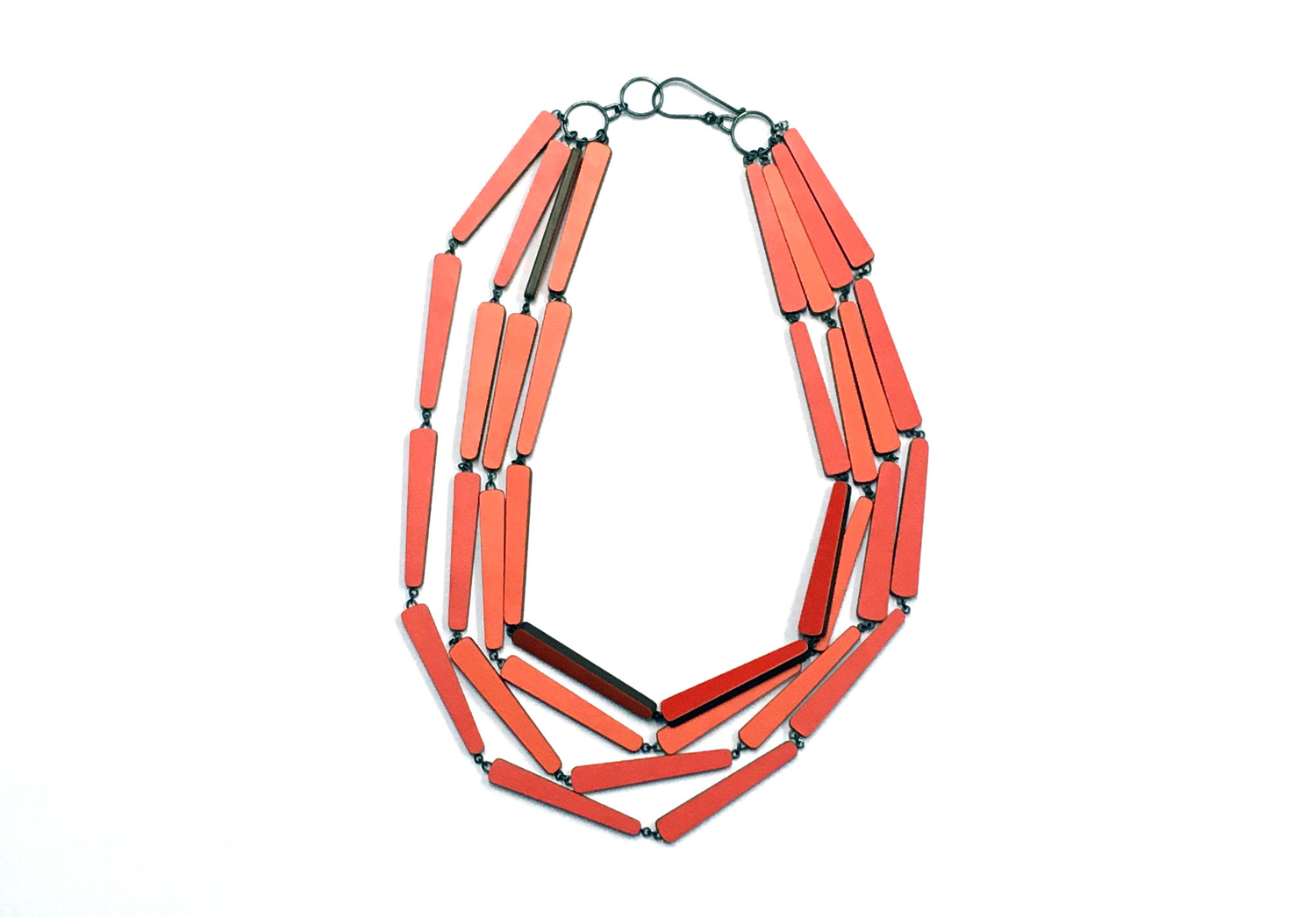 Red and orange necklace, 2016