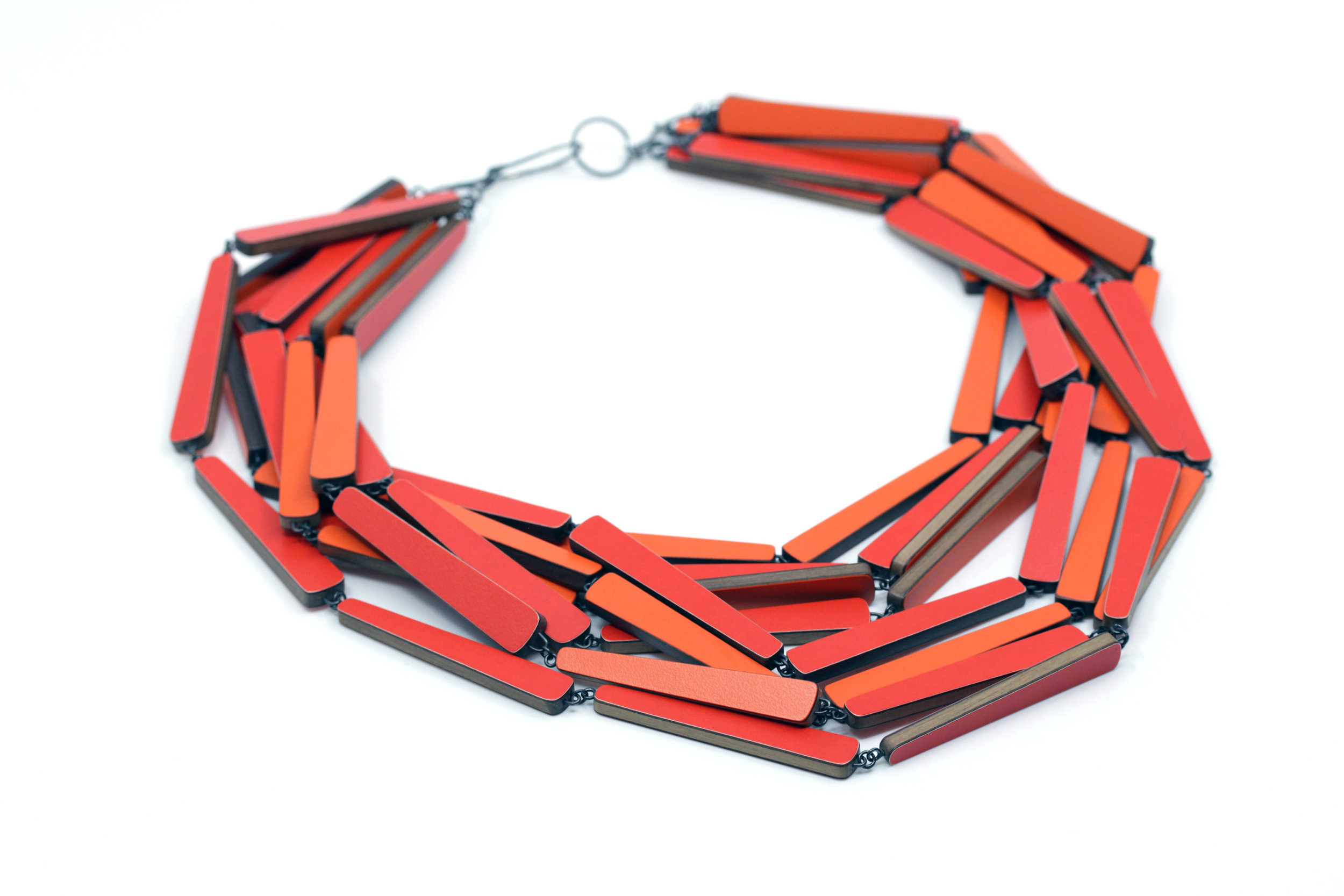 Statement laminate necklace, 2018