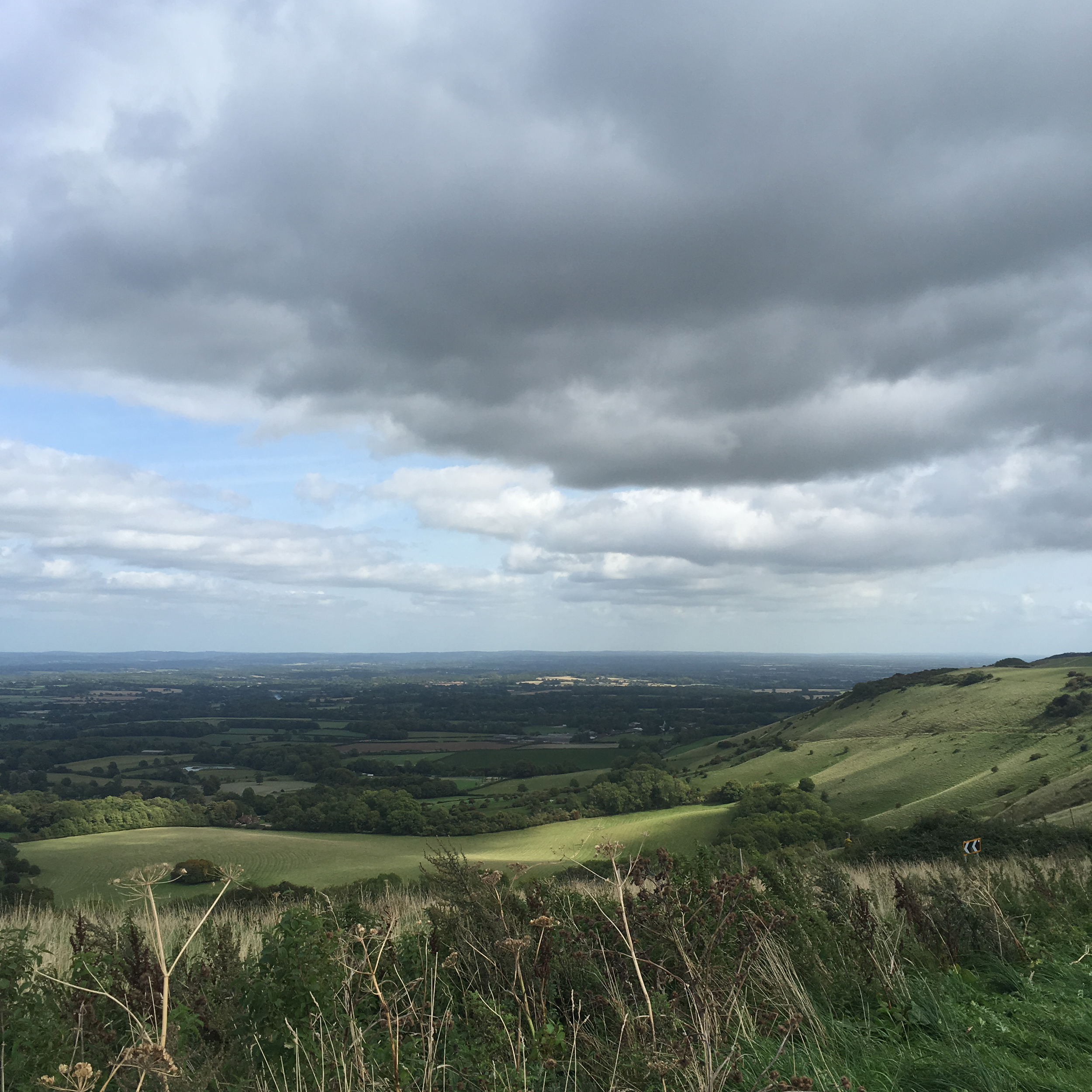 The view from the Ditchling Beacon.