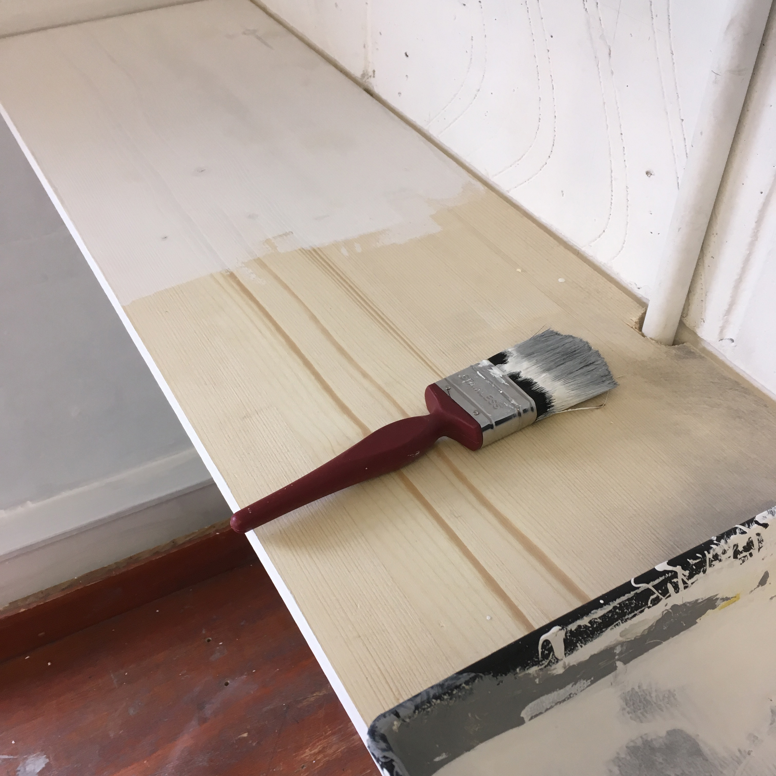 Painting shelves