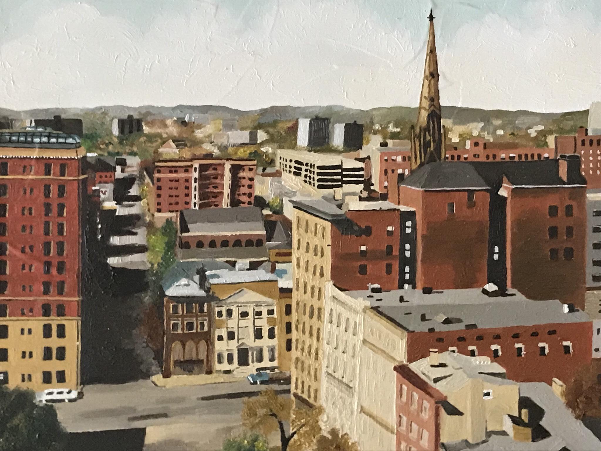 Anne Hart: Oil on Wood