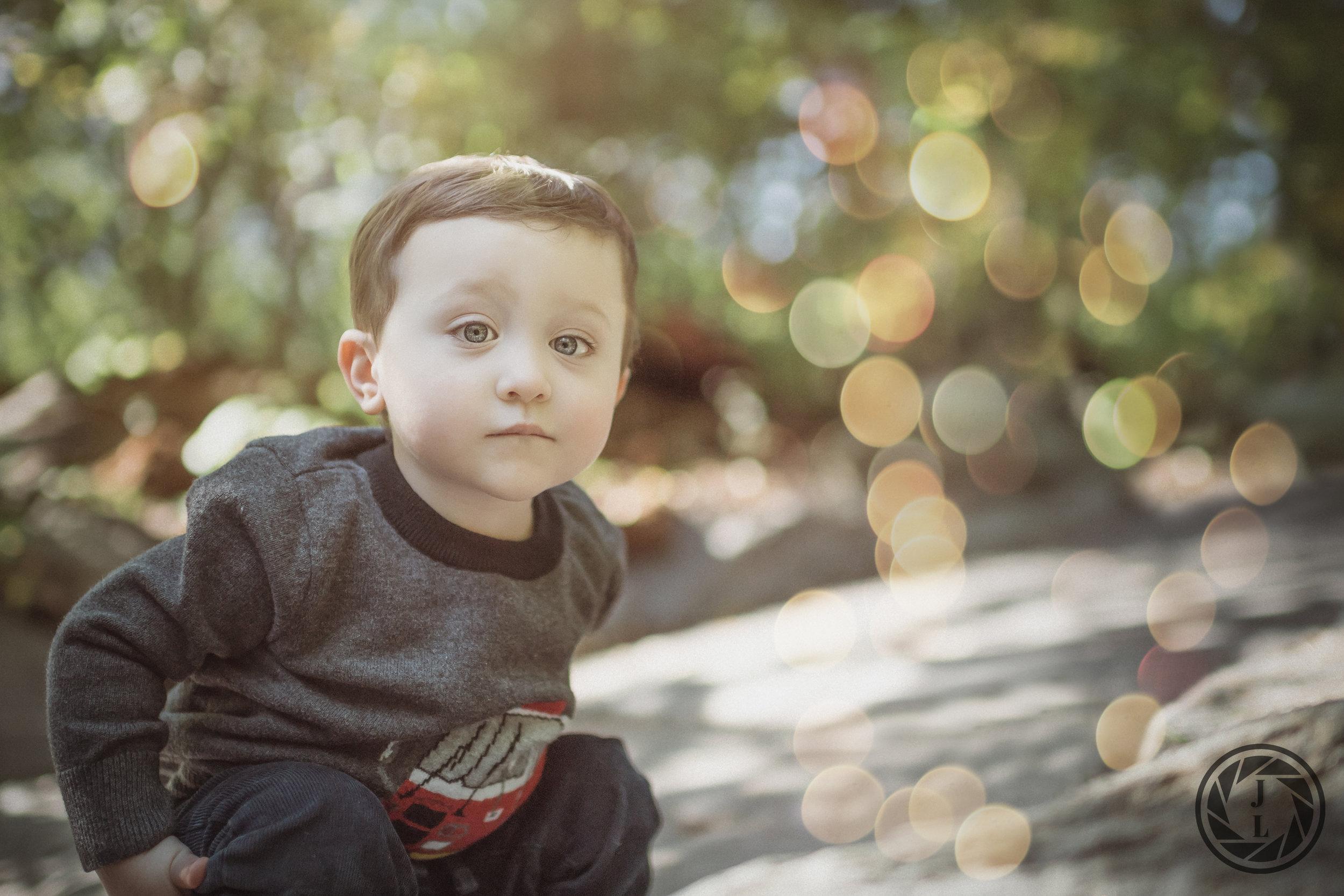 A toddler exploring Central Park