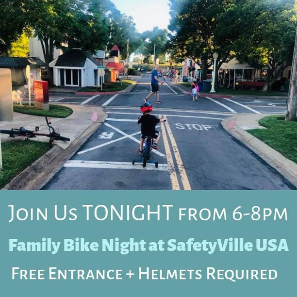 Join us tonight at SafetyVille USA for the last Family Bike Night of the season! It's free to attend and fun for the whole family!  #TheMakersPlace #MakersPlaceSac #Sacramento #Sac #SacParents #Parents #Parenting #Momprenuer #Leadership #Life #Work #Tips #Success #Entrepreneur #Coworking #Kids #Childcare #Family #Create #Placemaking #Local #BeLocal #SacTown #GoodCoffee #Coffee #Values #BikeNight