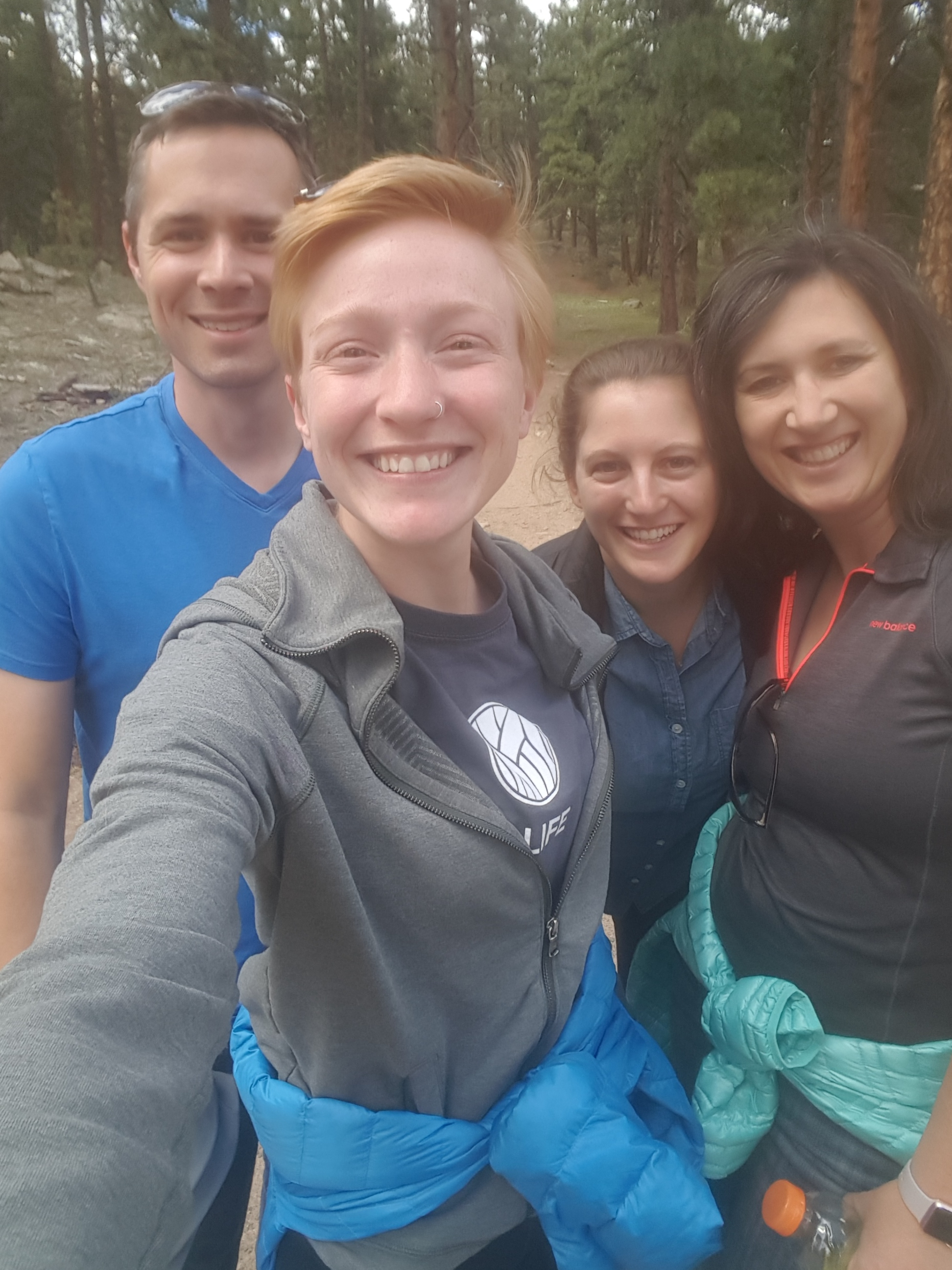 Partial Lab Hike, Evergreen 2017