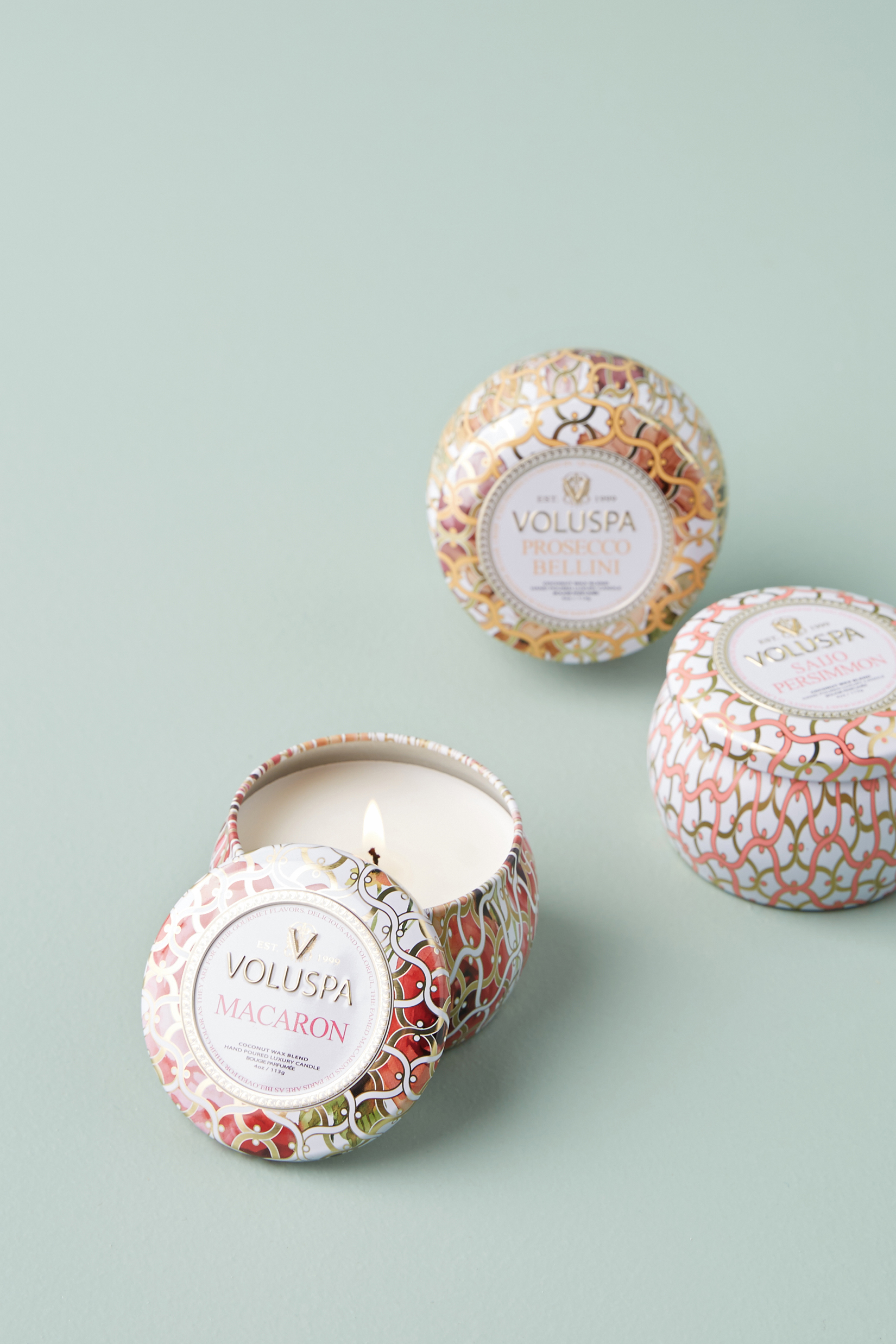 She can cozy up any hotel room or Airbnb—or mask not-so-pleasant smells—with the tiny versions of beloved candle fragrances. This trio comes with three tins in fresh scents ranging from Macaron to Prosecco Bellini, each with a 25-hour burn time.  $24
