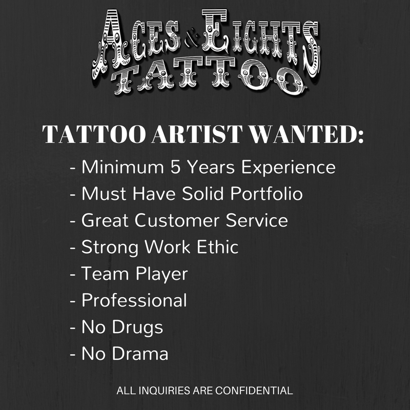 Open Booth! - Established in 2004 and recently relocated to a new high-end shop in beautiful downtown Augusta, Georgia, we are driven to provide top-notch customer service, a comfortable environment for both artists and clients and quality custom tattoos and piercings at fair prices. We're looking for just the right artist to join our family. Do you have what it takes?