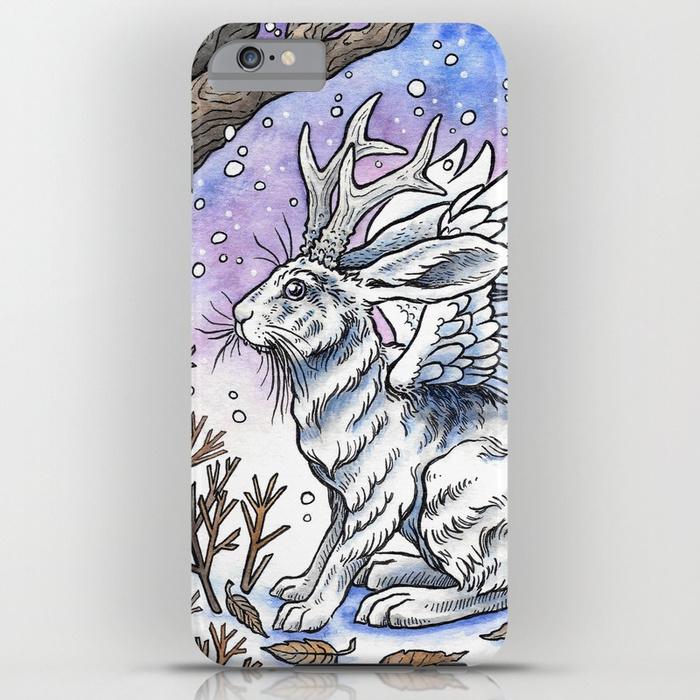 winged-jackalope-in-winter-plumage-cases.jpg