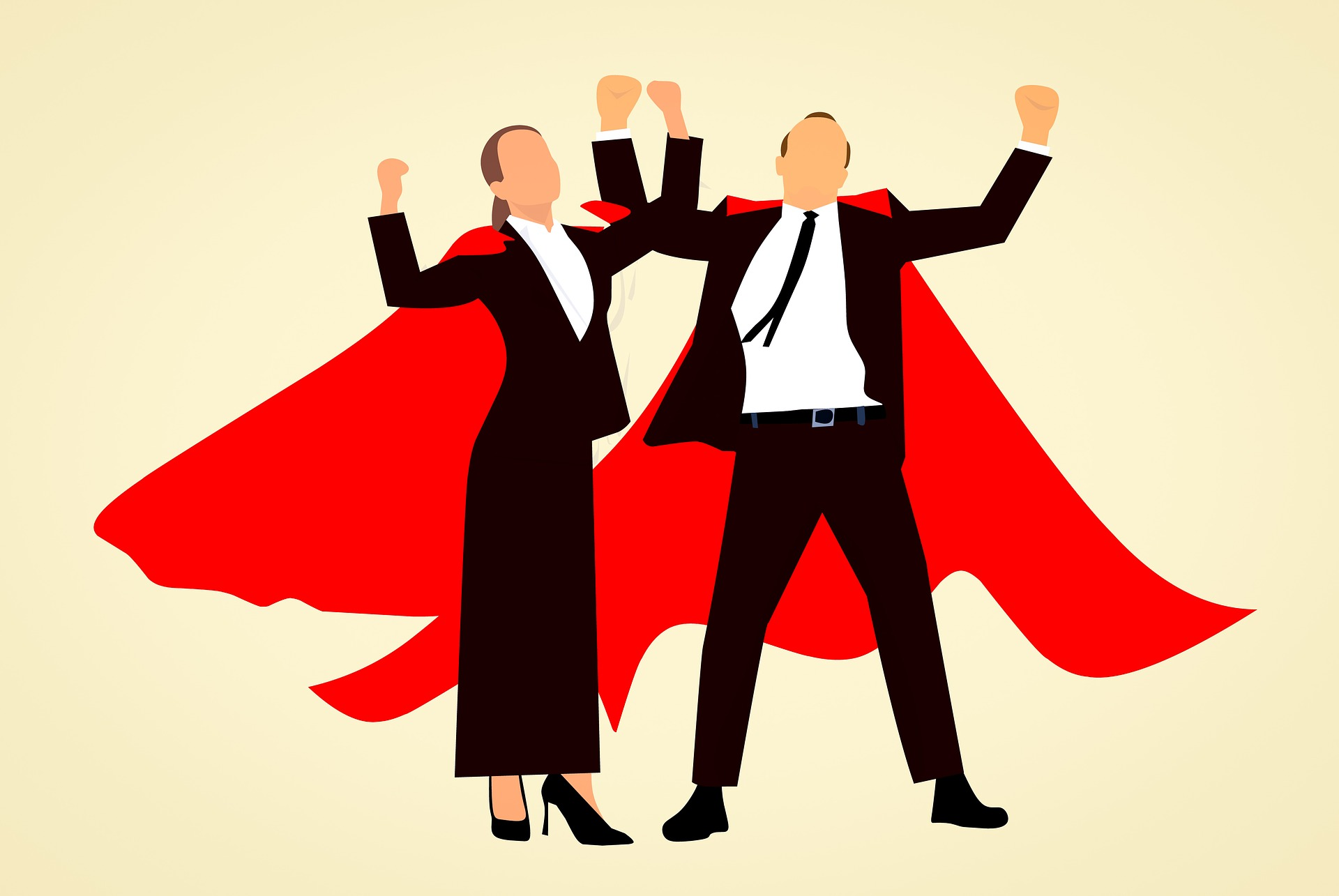 Cover photo -- Creative Commons licensed  https://pixabay.com/en/super-hero-man-woman-success-3083468/