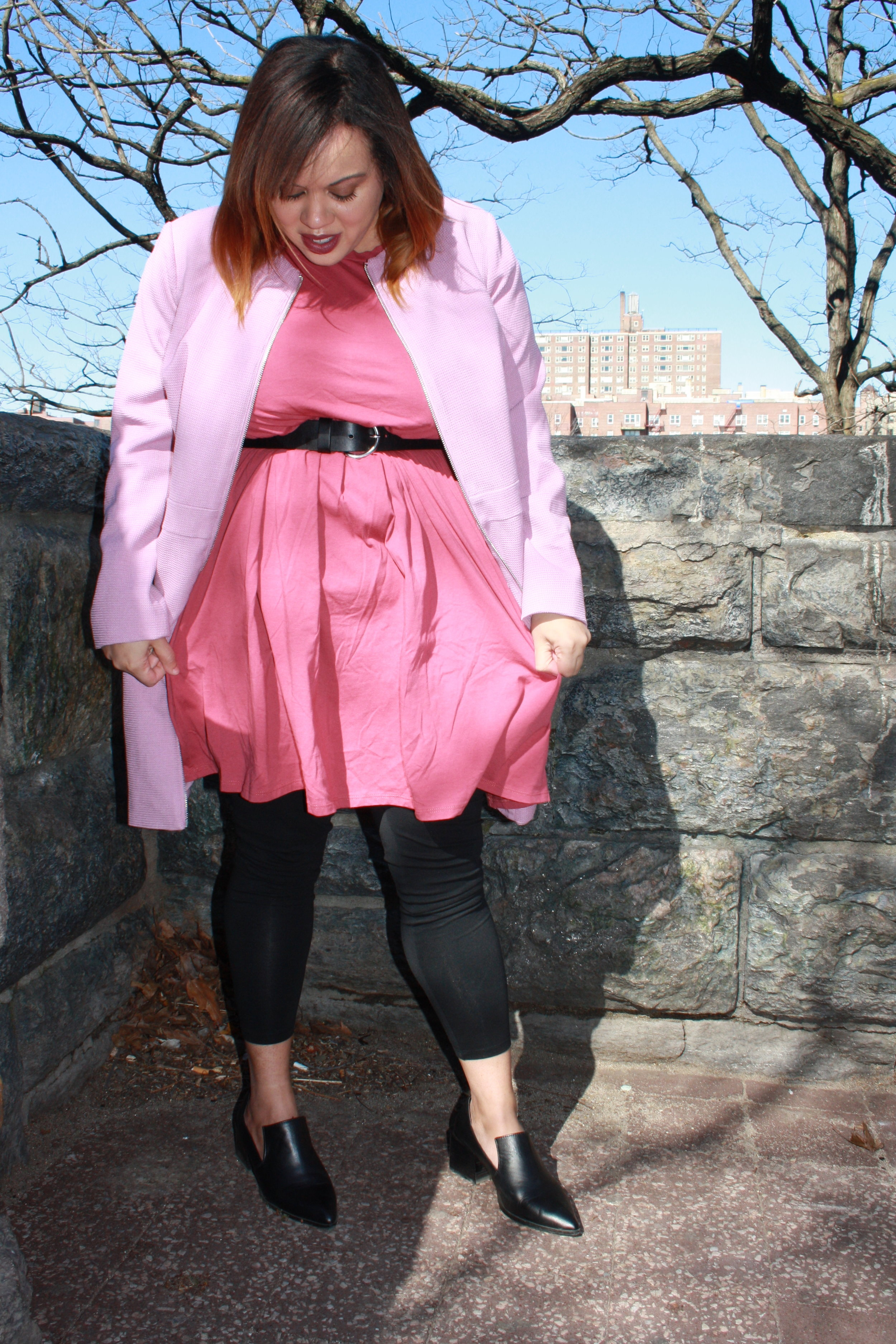 Always use pops of color to highlight your style. I rarely wear pink but when I do it's because I want to command a room and grab attention. Jacket:  ELLOS