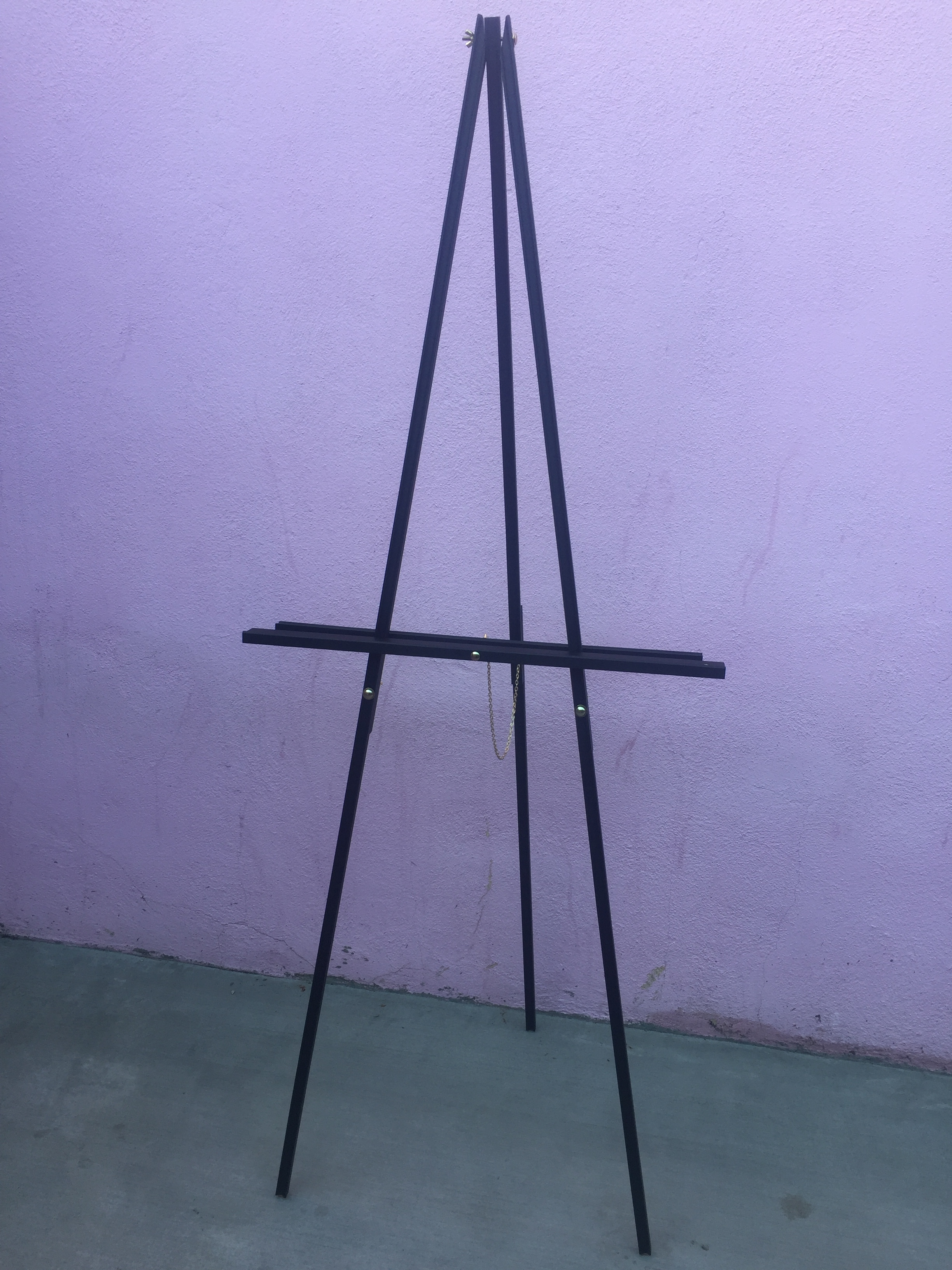 Standing easel  - Simple black easel for your welcome sign or large photo