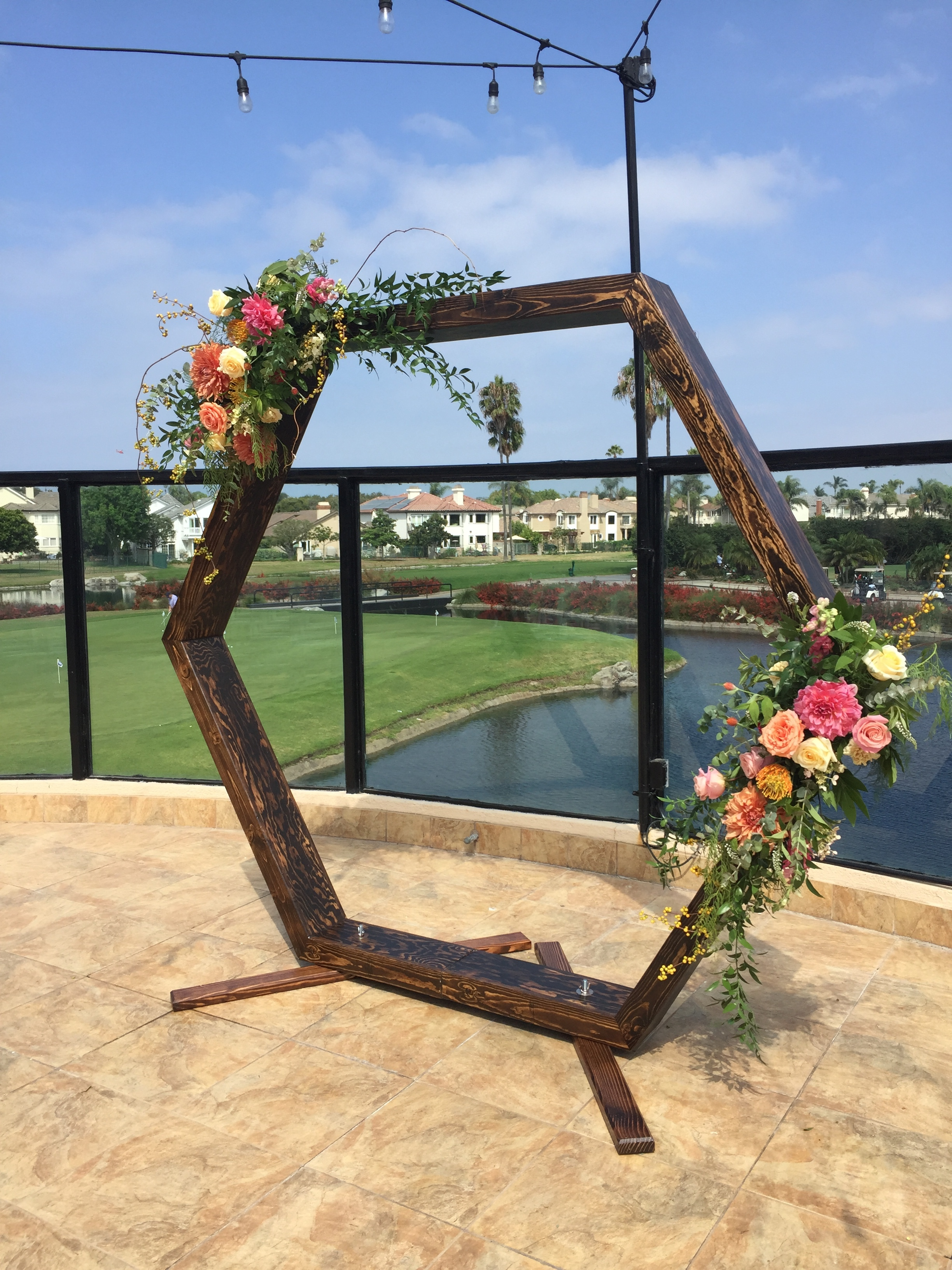Hexagon arch  - Beautiful wooden arch for your wedding ceremony or sweetheart backdrop