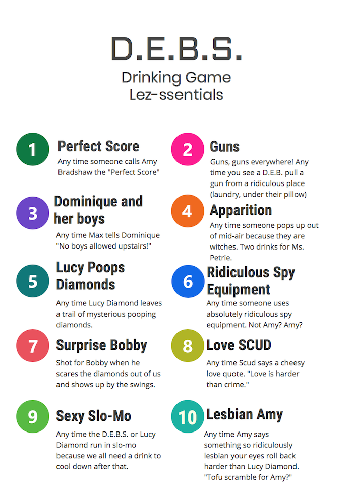 D.E.B.S. Drinking Game