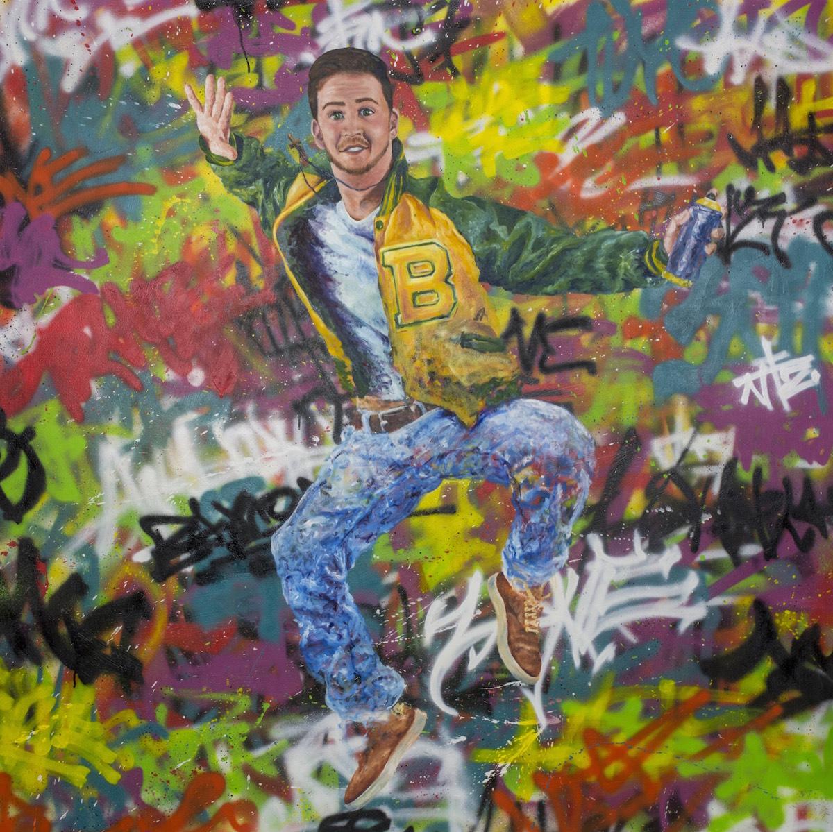 To Scale, The Artist - Oil, Acrylic Spray ■ 65