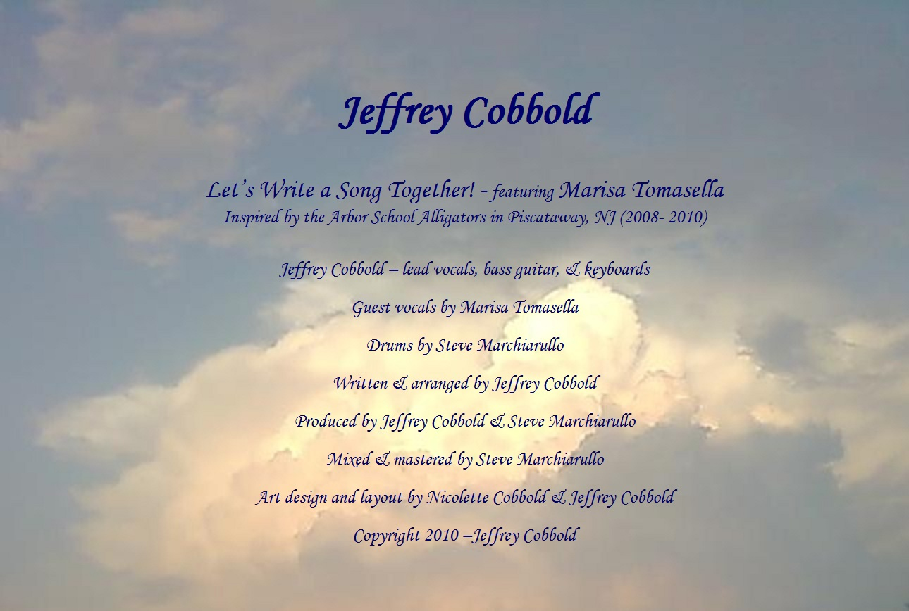Jeffrey Cobbold - Let's Write a Song Together! feat. Marisa Tomasella - Single Cover 8.jpg