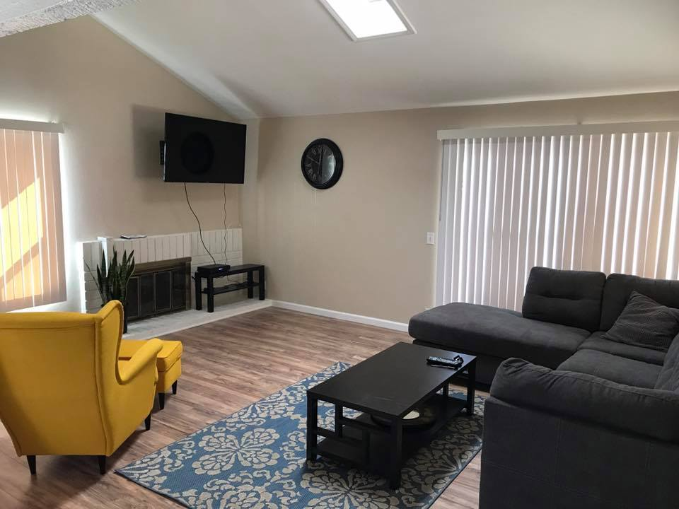 Drug detox facility living room
