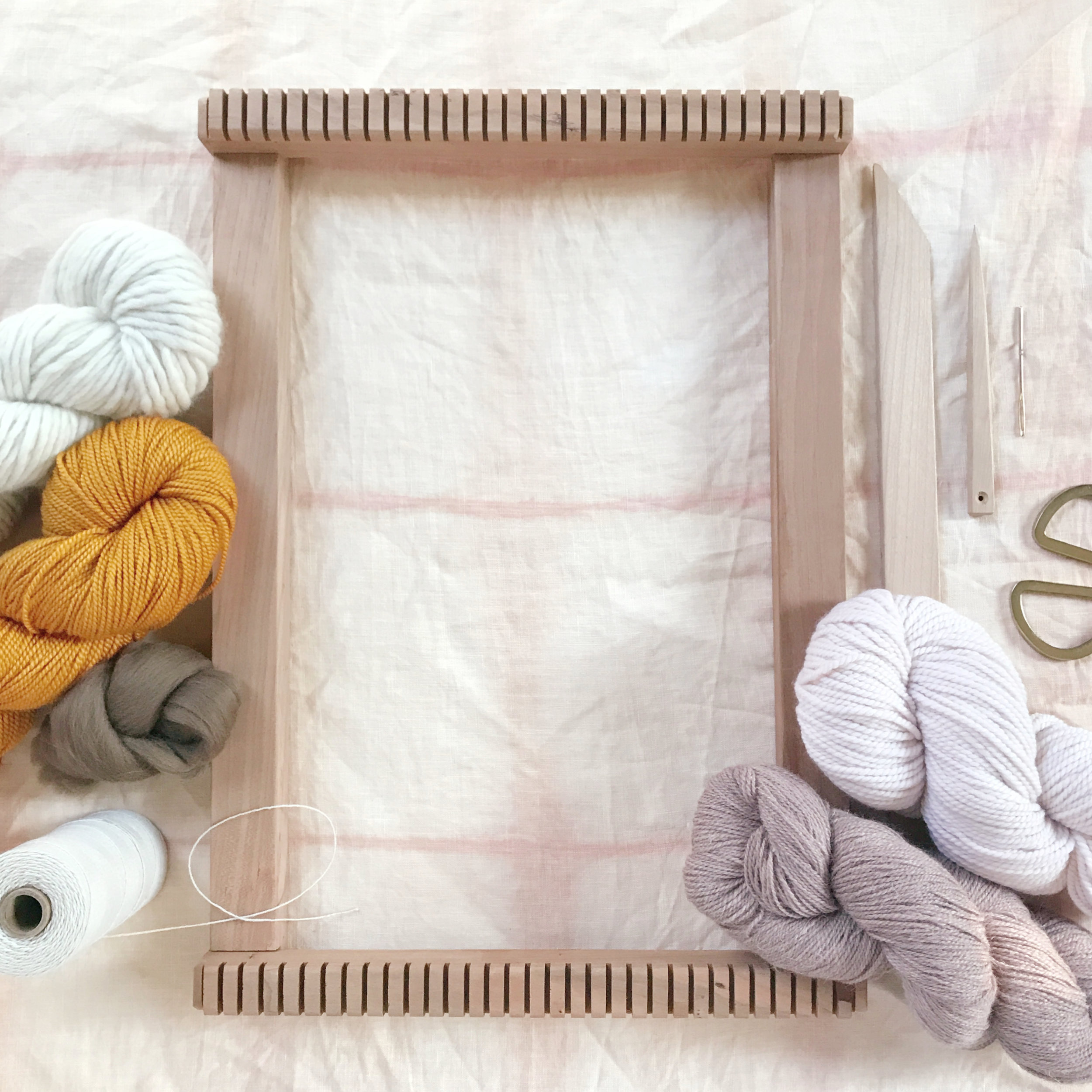 weaving tools and supplies