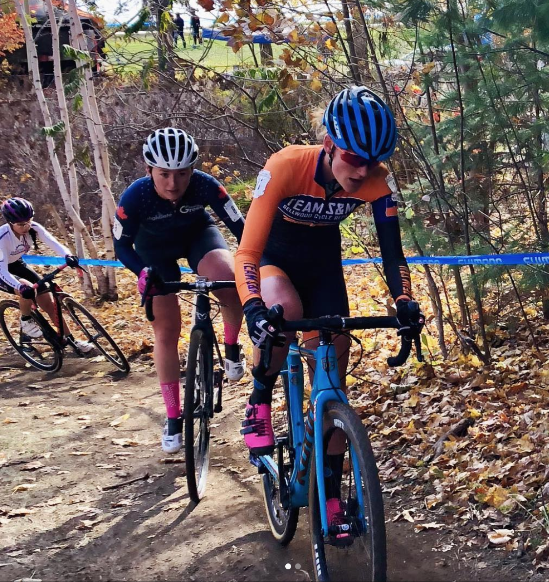 Sophie putting the hammer down in Sunday's U23 race.