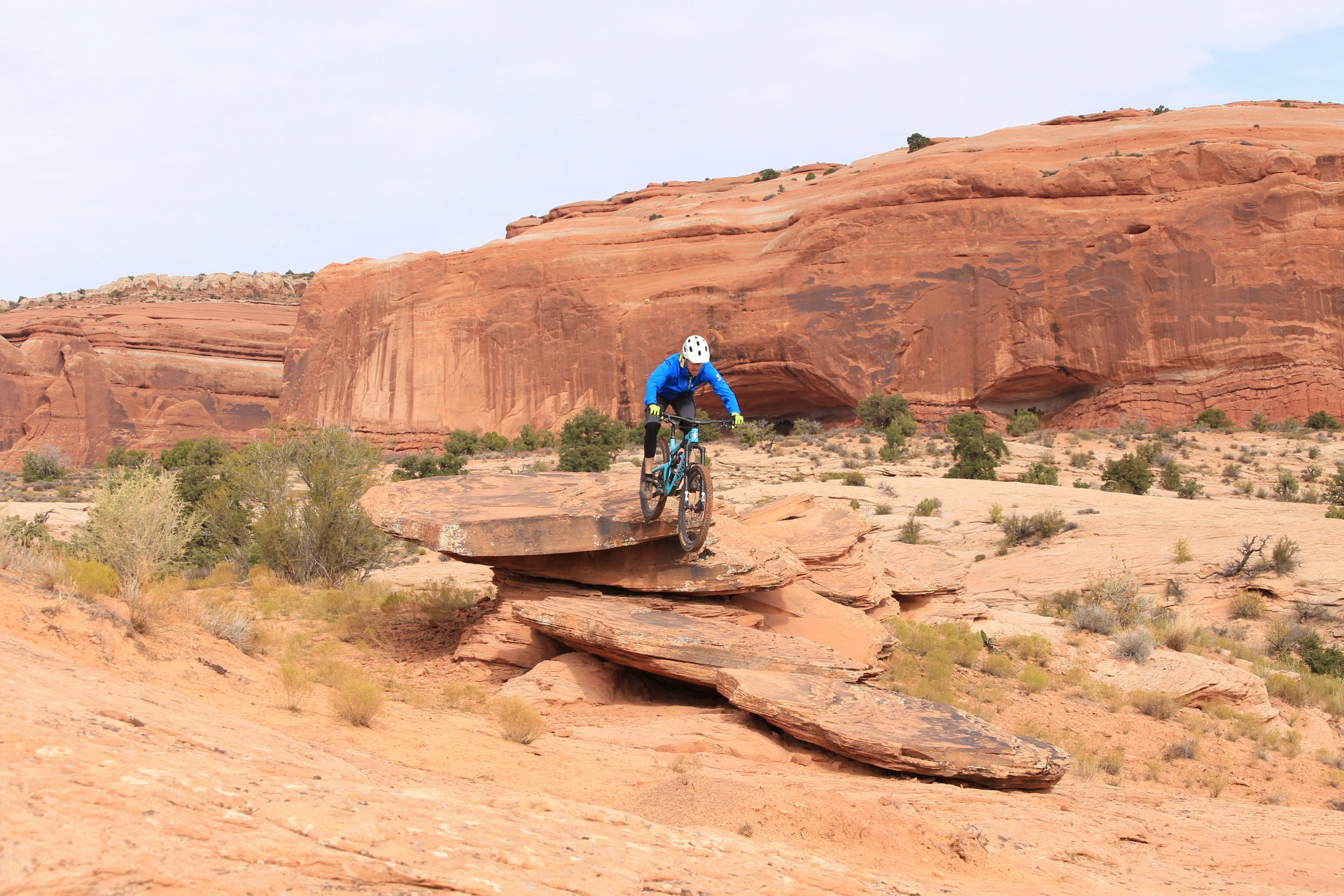 Moab - The Nomad felt right at home on the bigger terrain, high-speed lines, technical drops.